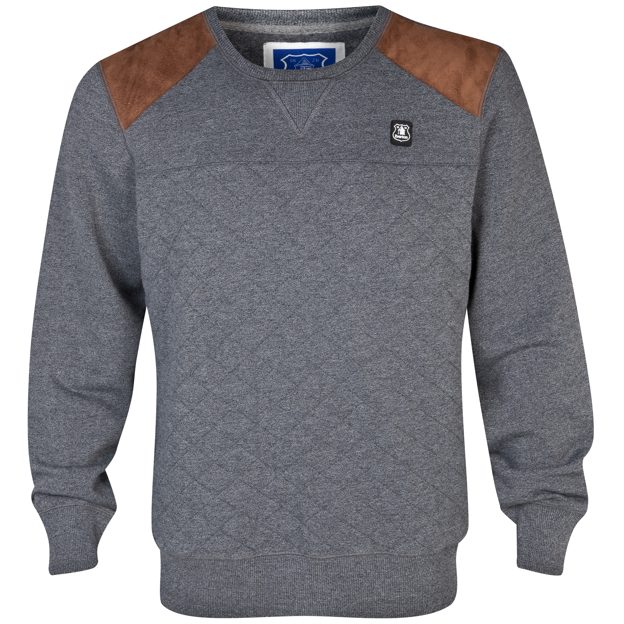 Everton Rawlins Crew Neck Sweater - Mens Charcoal