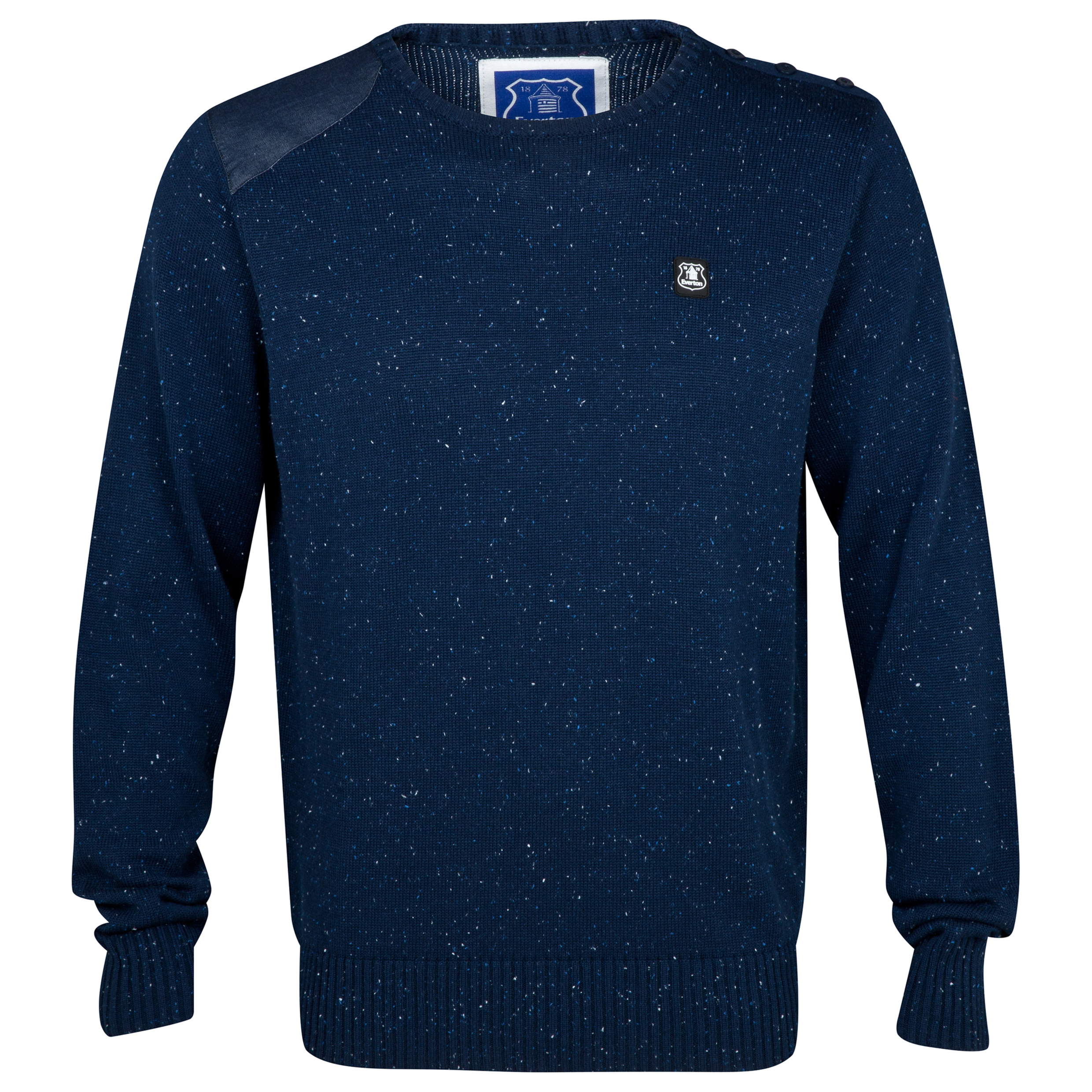 Everton Clovis Crew Neck Jumper - Mens Navy