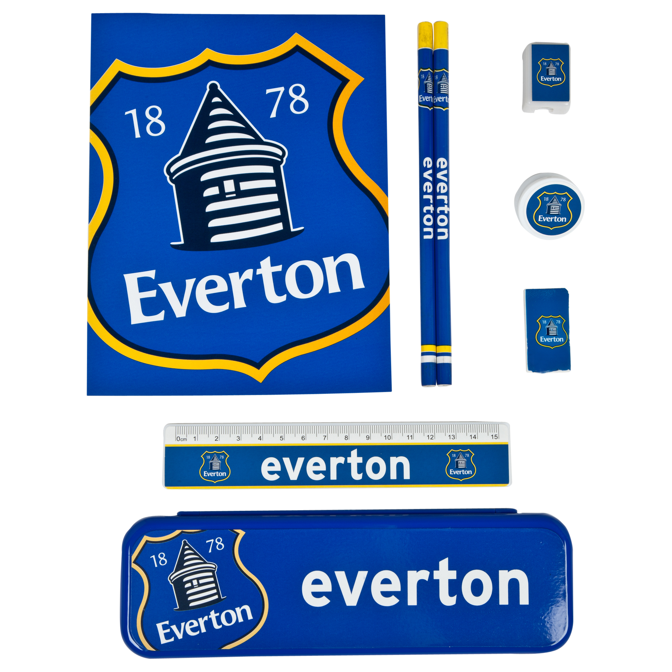 Everton Pencil Case Stationery Set