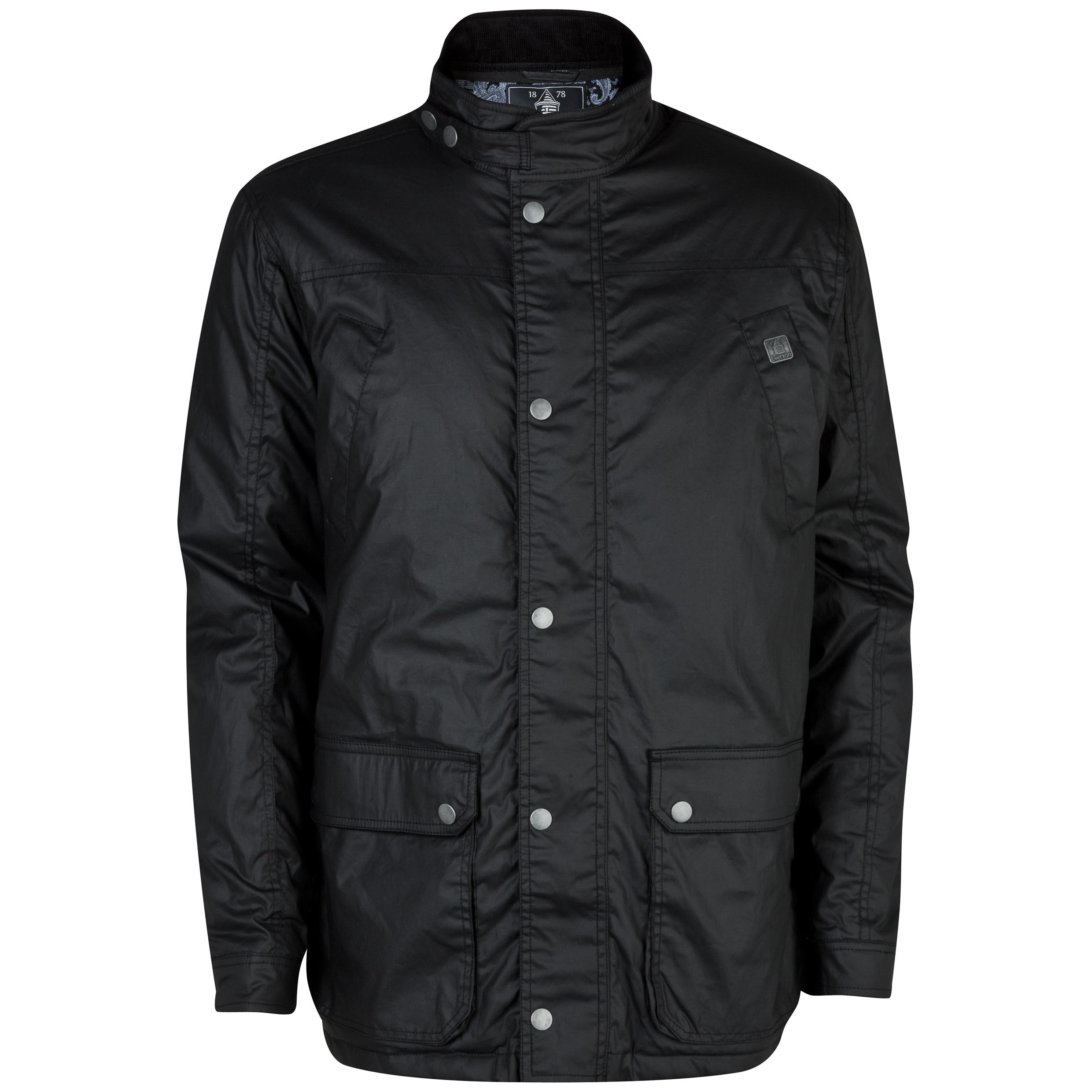 Everton Castletown Wax Coat - Mens Black