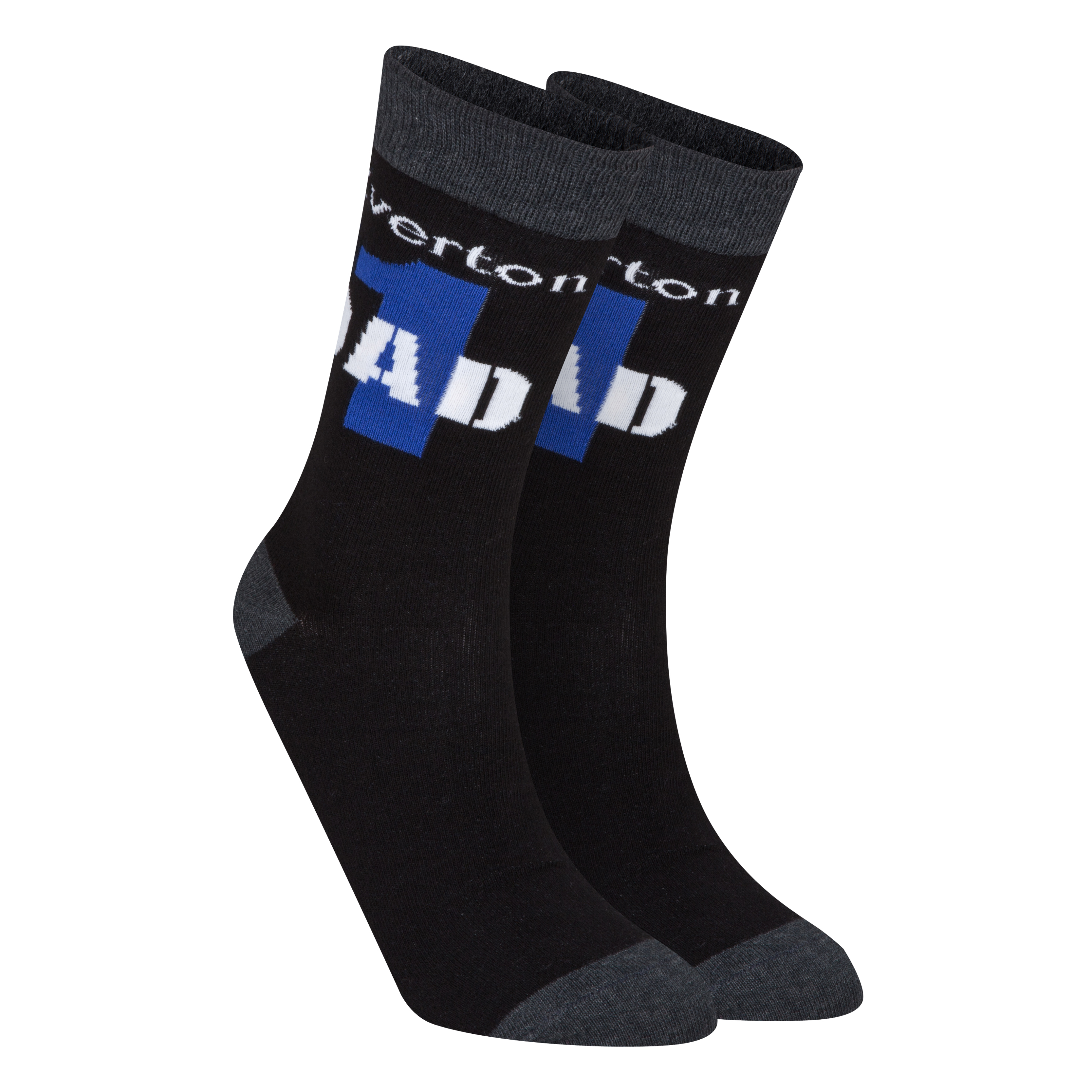 Everton Number 1 Dad Socks - Mens Black