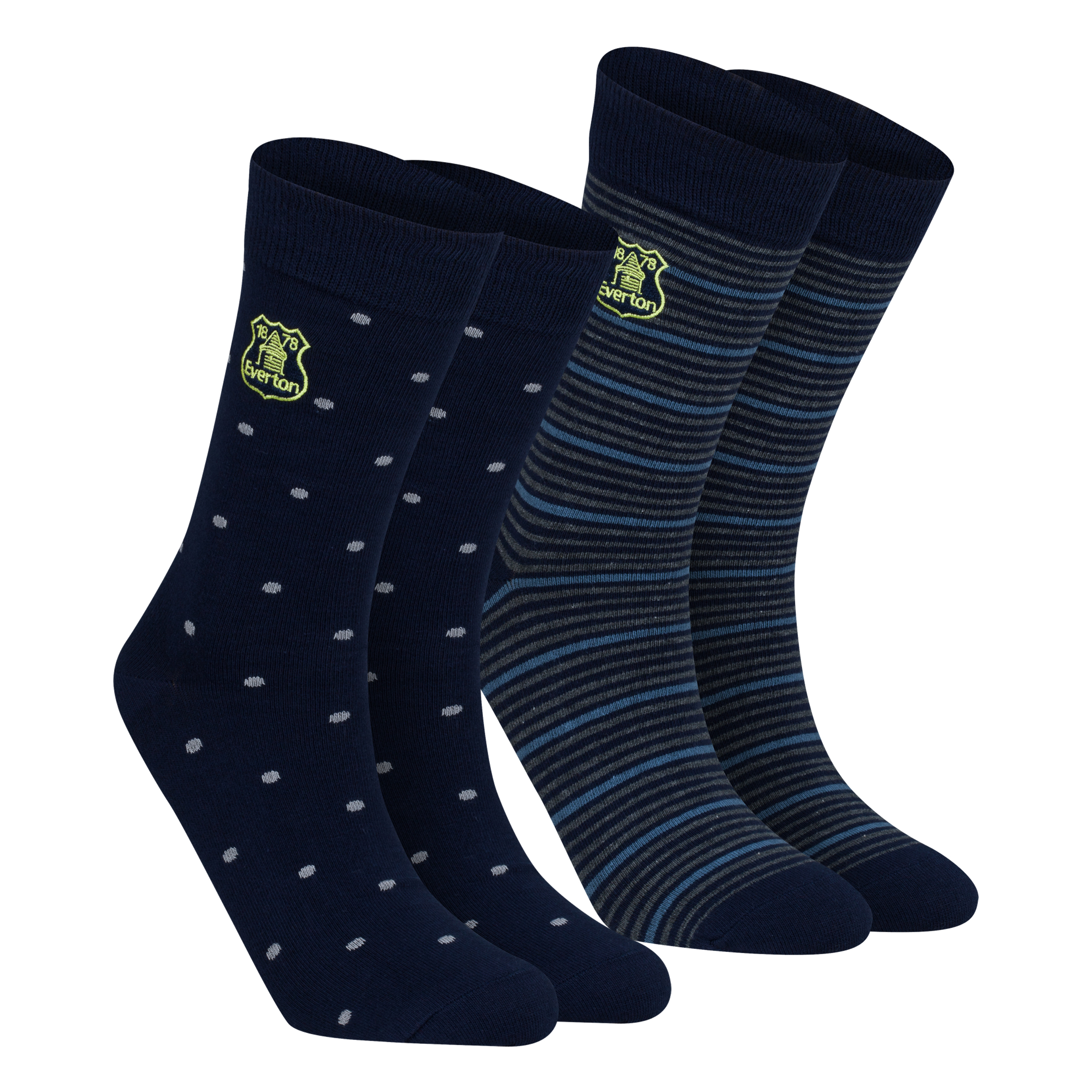 Everton 2Pk Dress Socks - Mens Navy