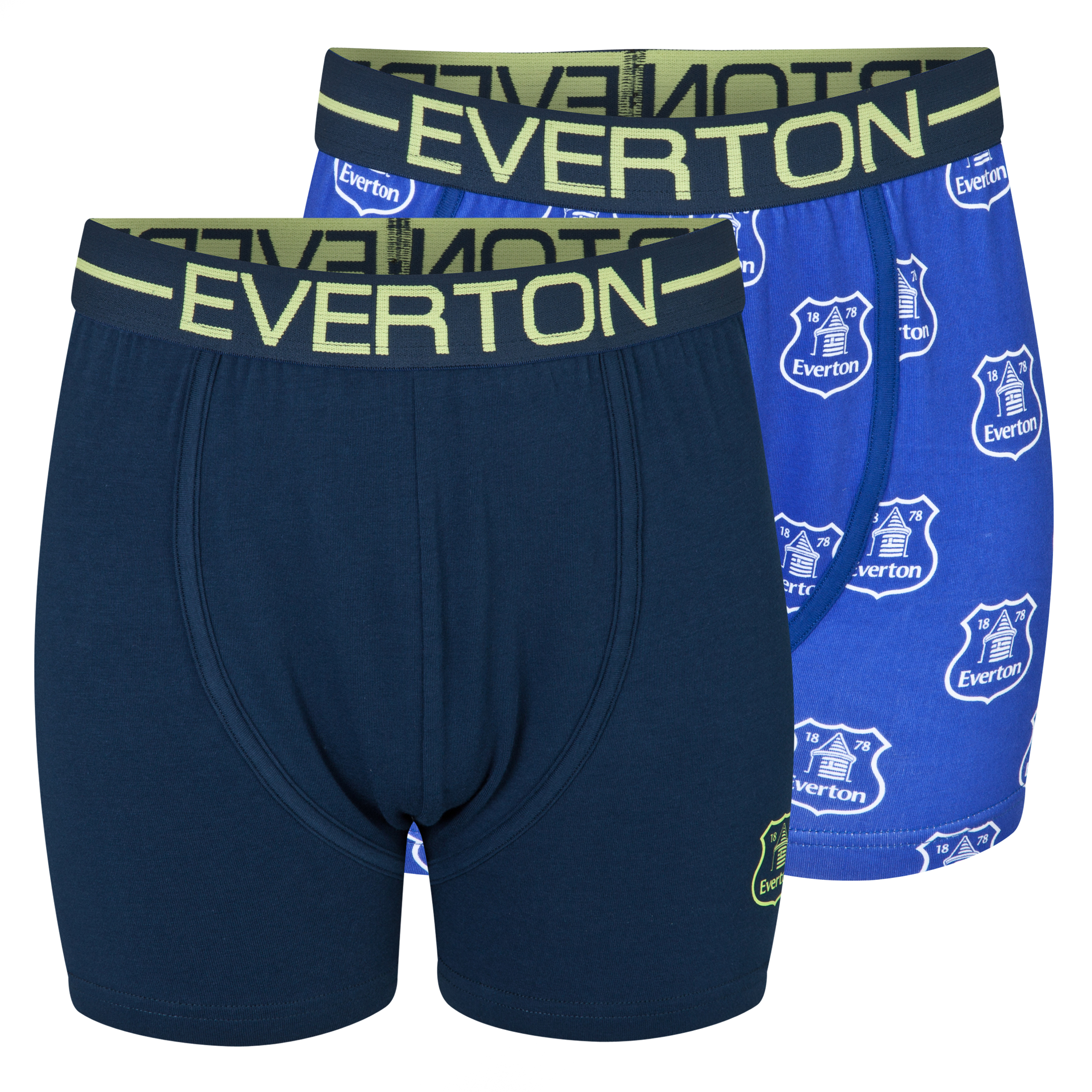 Everton 2PK Boxer Shorts - Boys Blue
