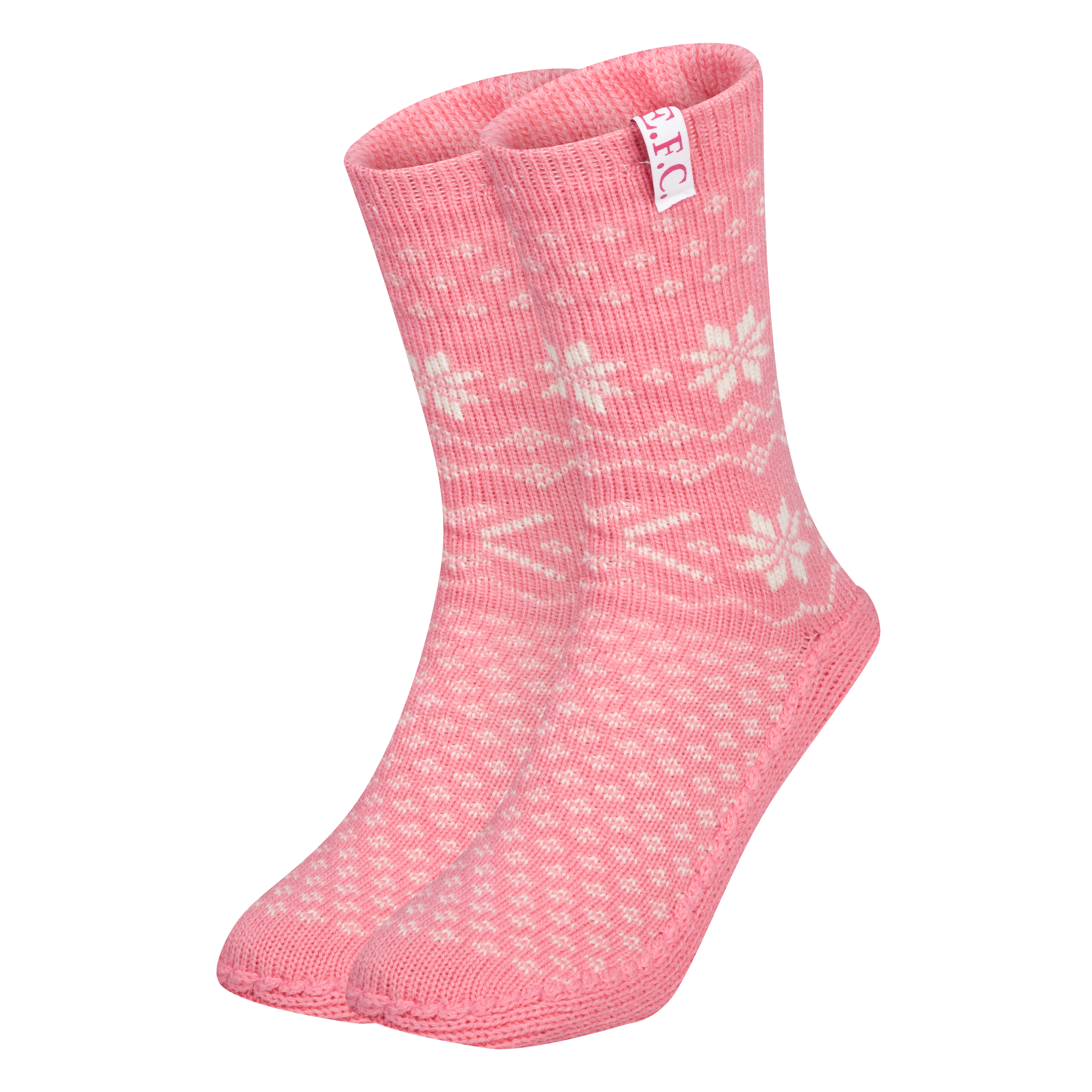 Everton Slipper Socks - Womens Pink