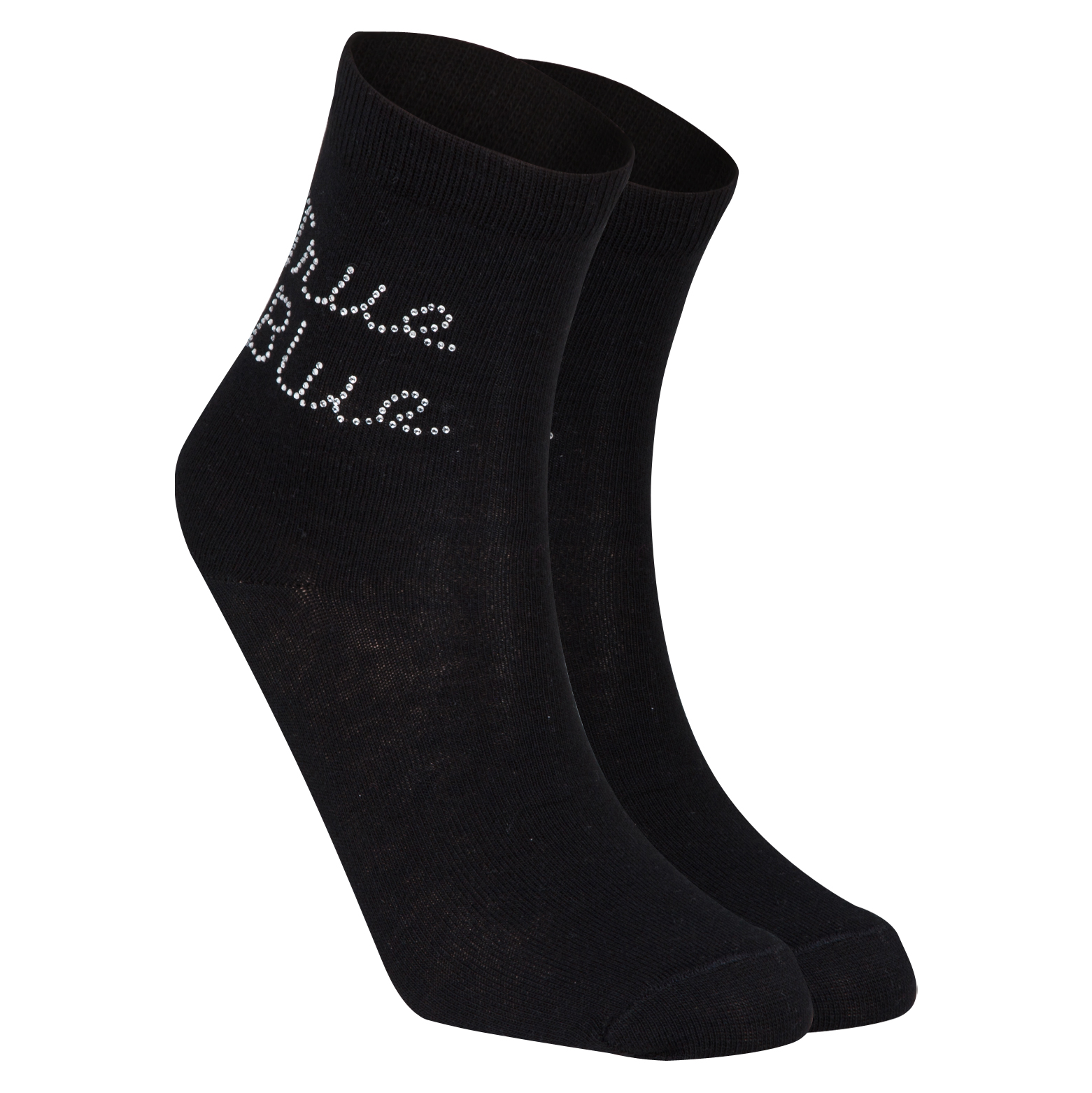 Everton Diamante Socks - Womens Black