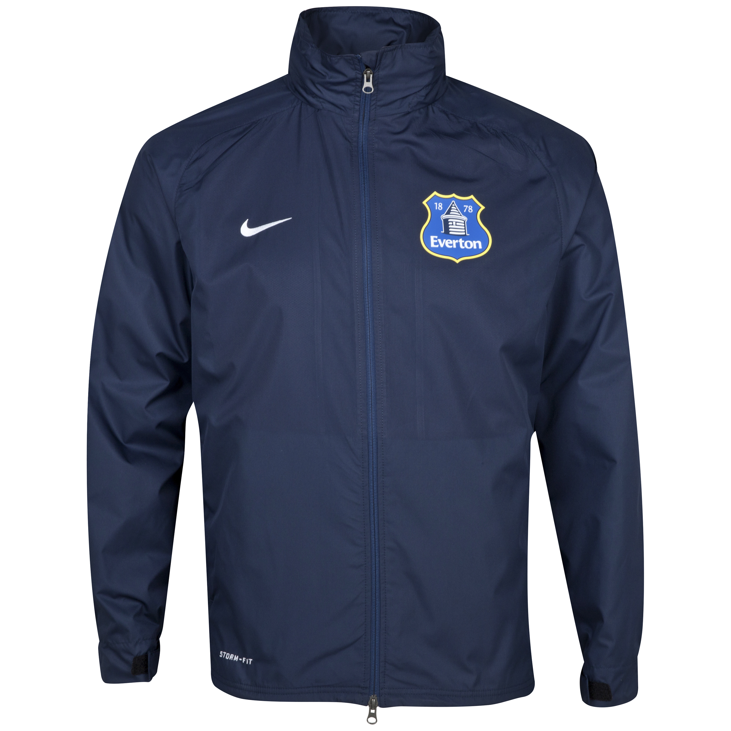 Everton Hooded Rain Jacket Navy