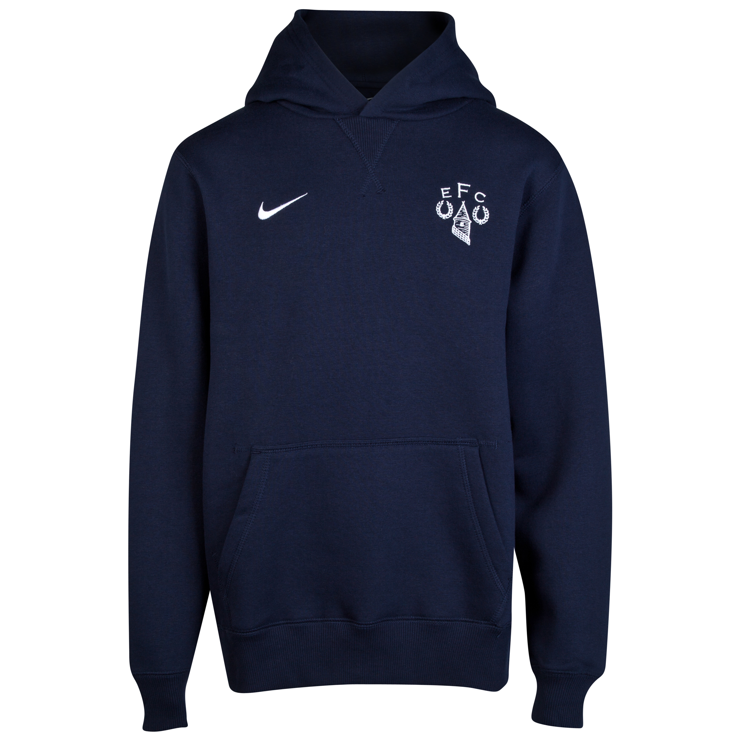 Everton Heritage Fleece Hoodie - Junior Navy