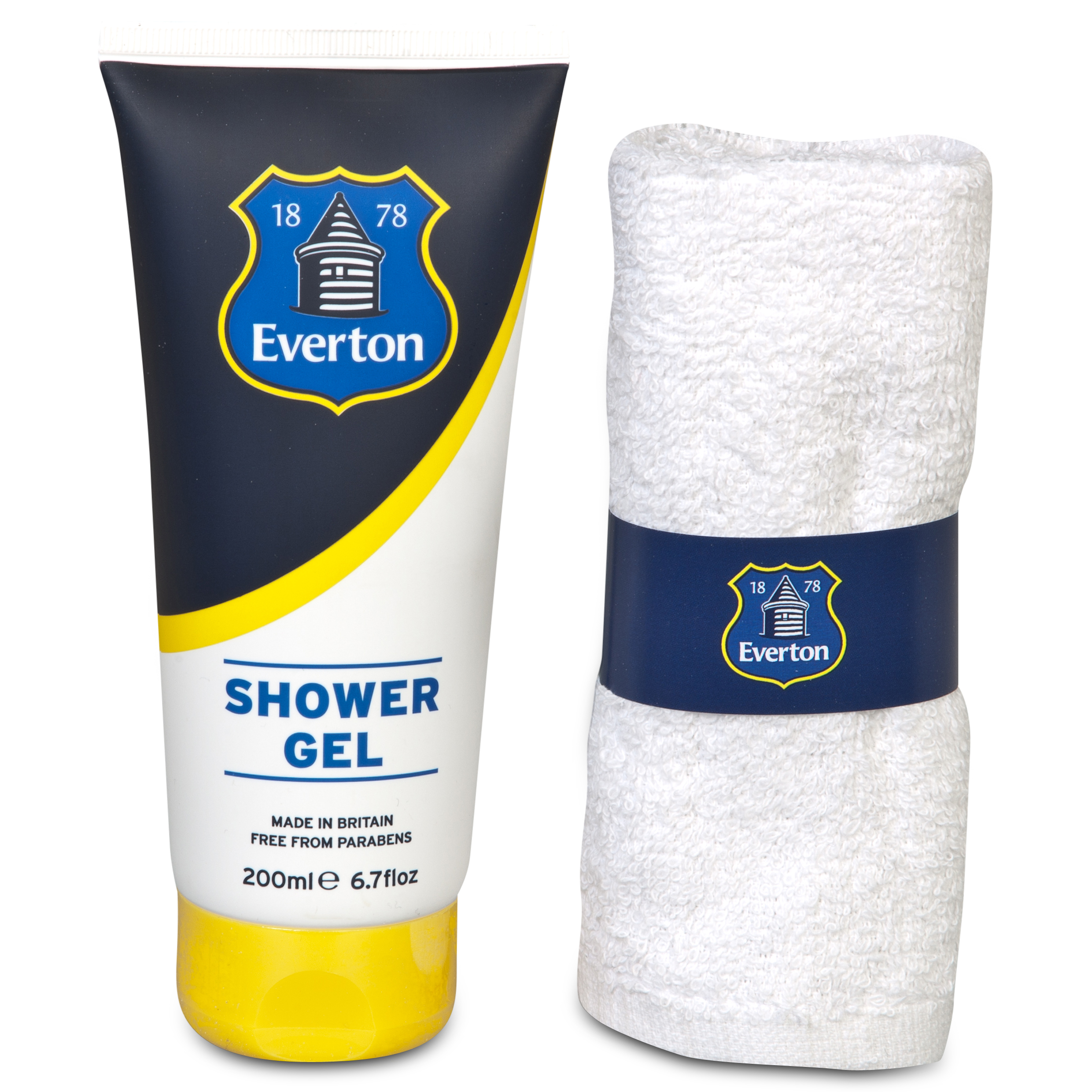 Everton Shower Gel & Face Cloth Gift Set