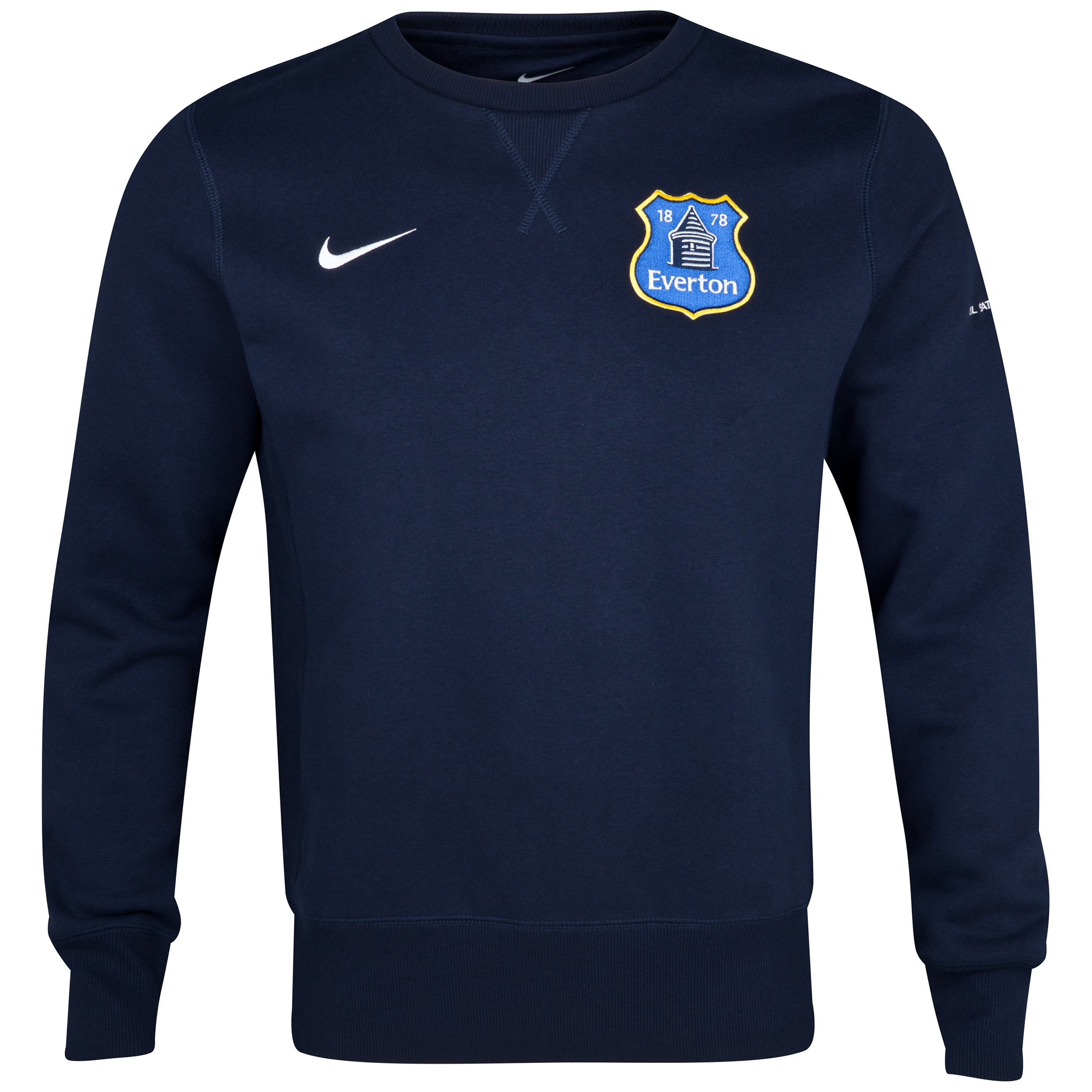 Everton Core Fleece Crew Navy