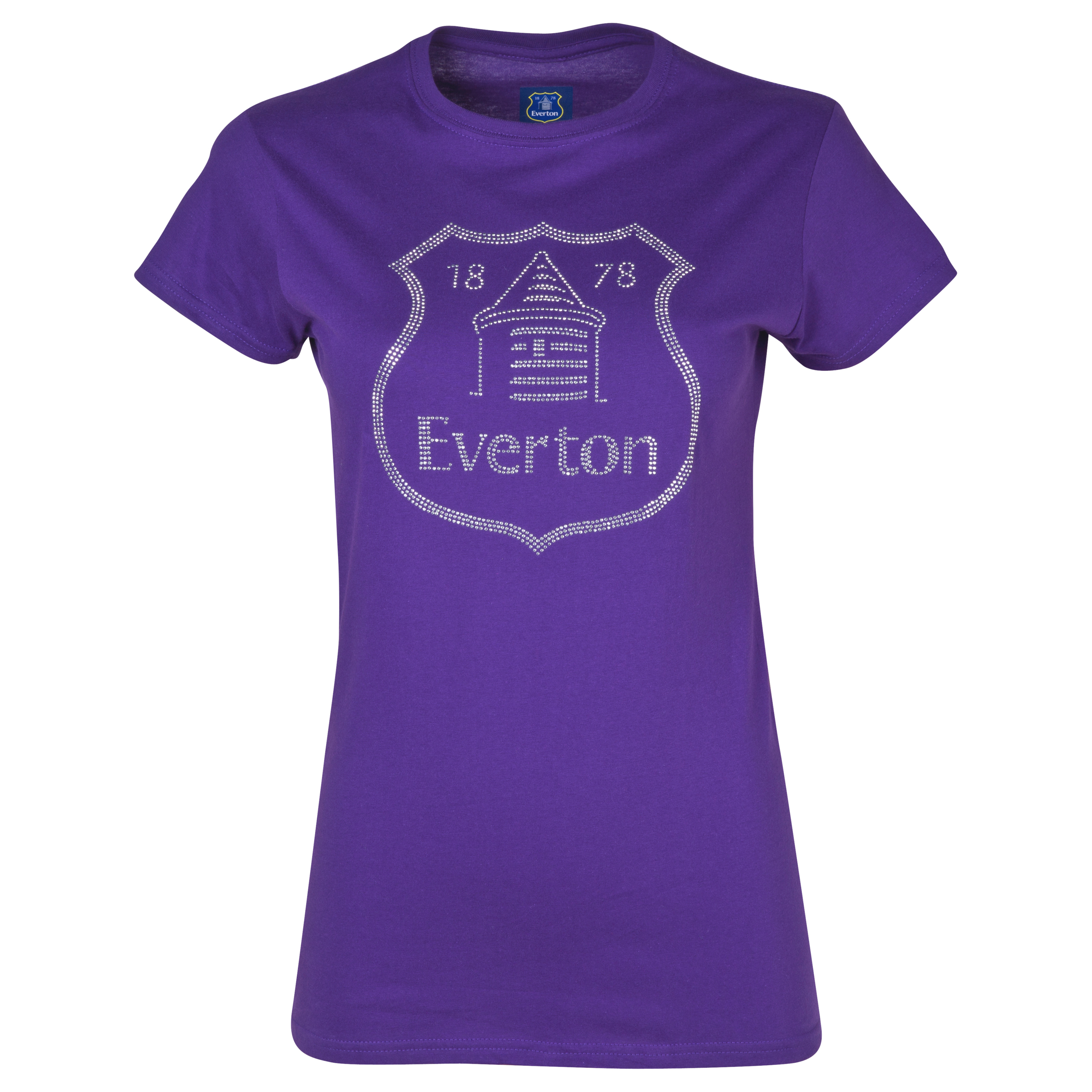 Everton Rhinestone T-Shirt - Womens Purple