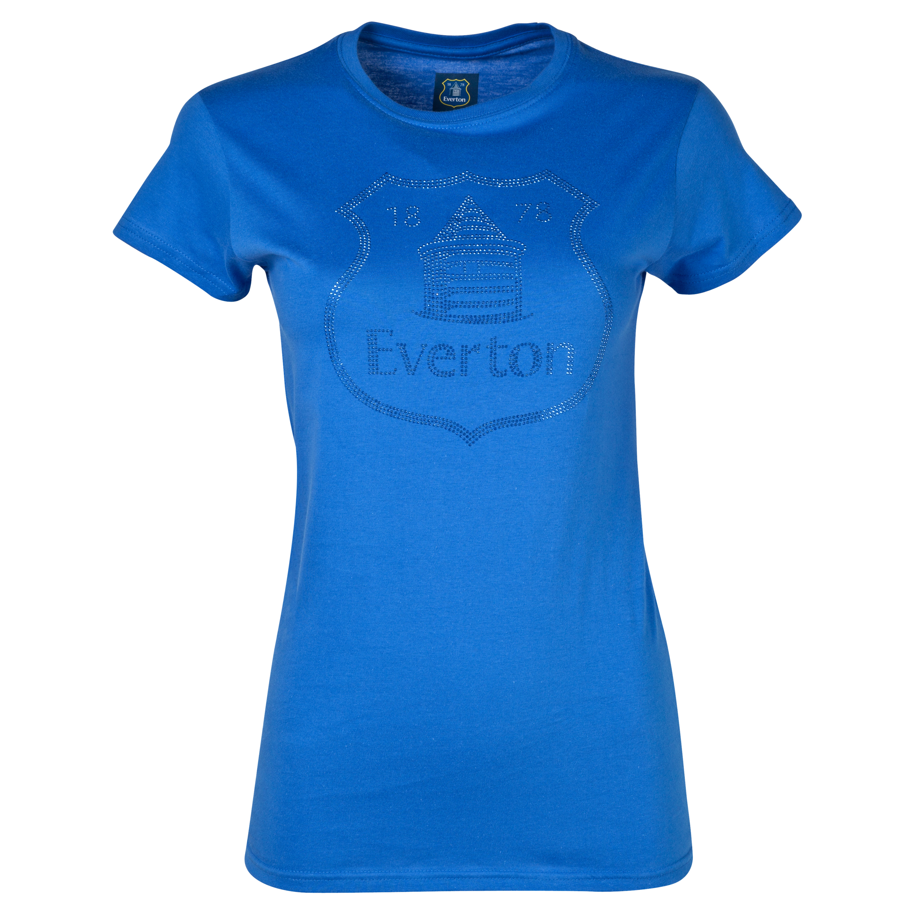 Everton Rhinestone T-Shirt - Womens Royal Blue