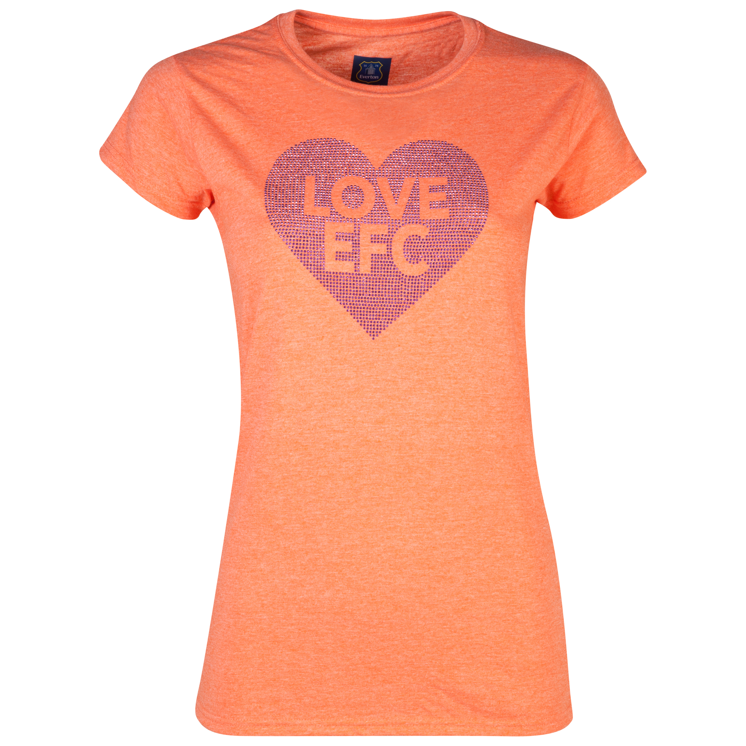Everton Rhinestone T-Shirt - Womens Orange
