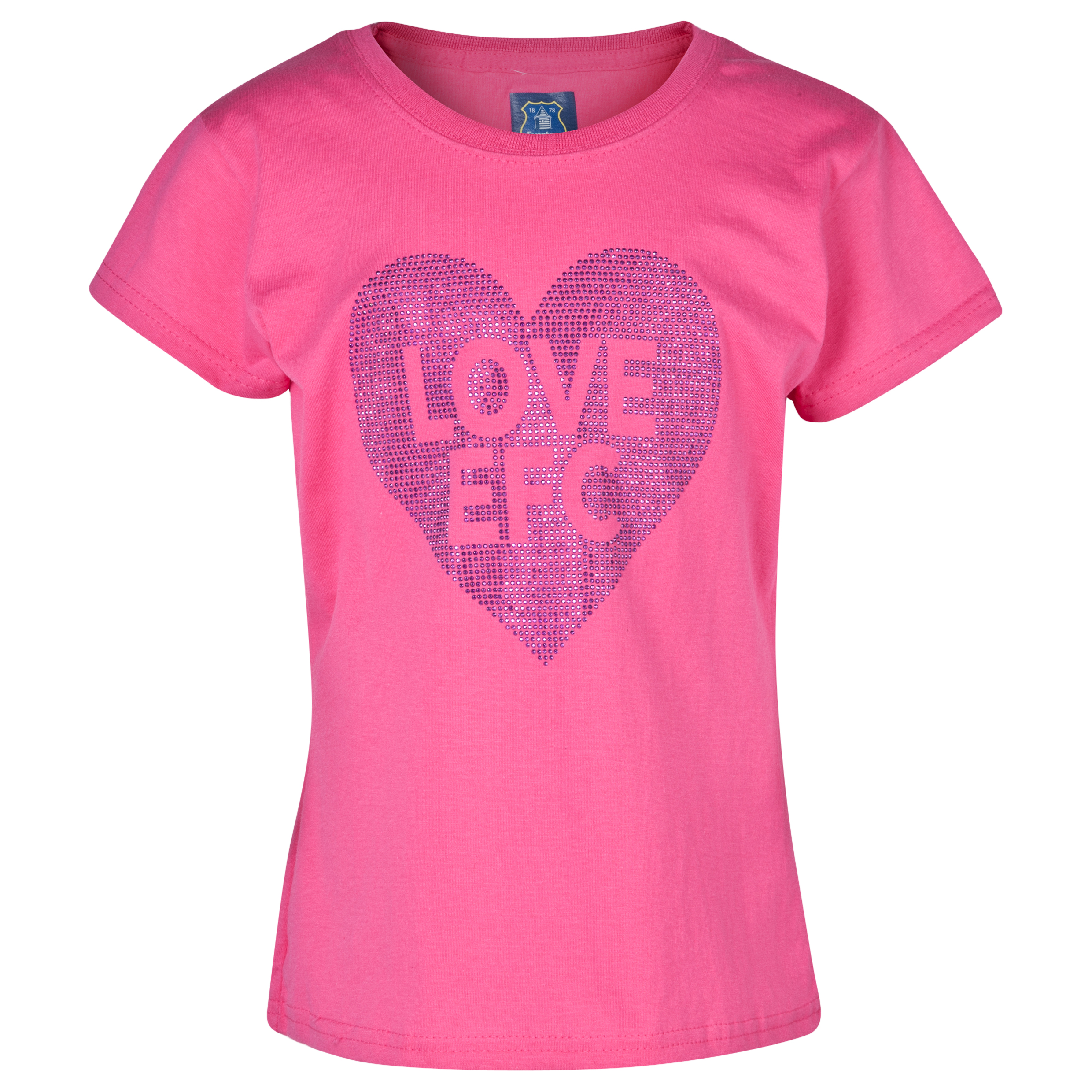 Everton Rhinestone T-Shirt - Girls Pink