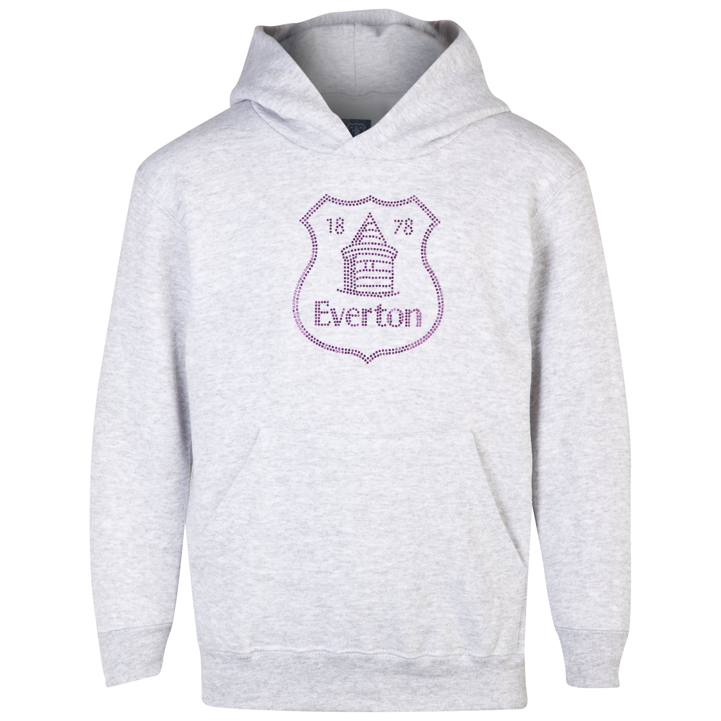 Everton Rhinestone Hoodie - Girls Grey