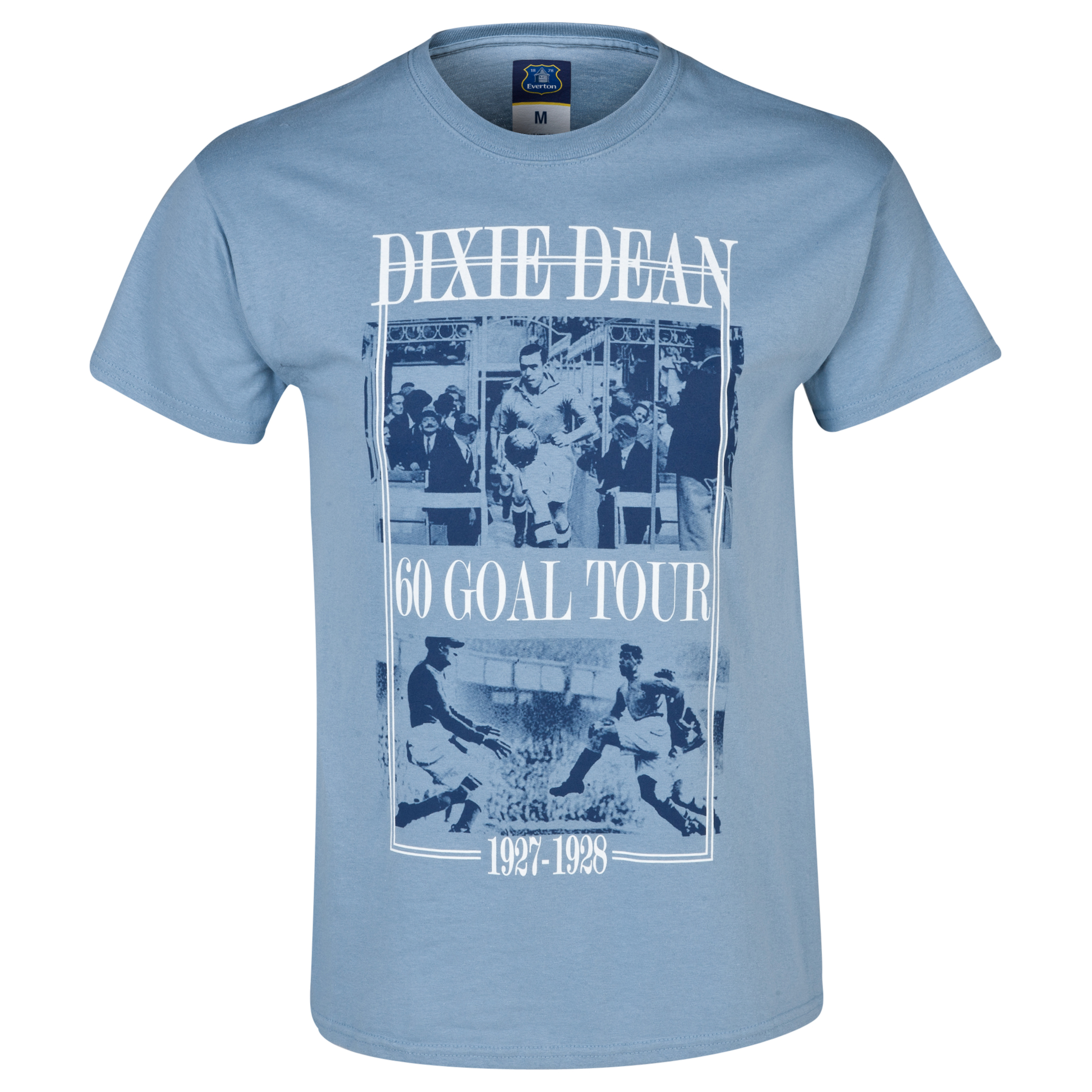 Everton 2for20 Dixie Dean T-Shirt Lt Blue