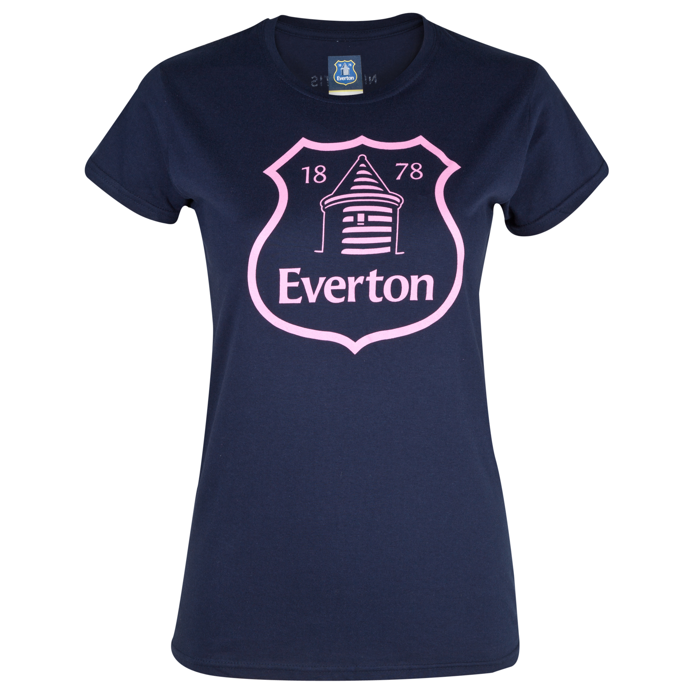 Everton 2for20 Crest T-Shirt - Womens Navy