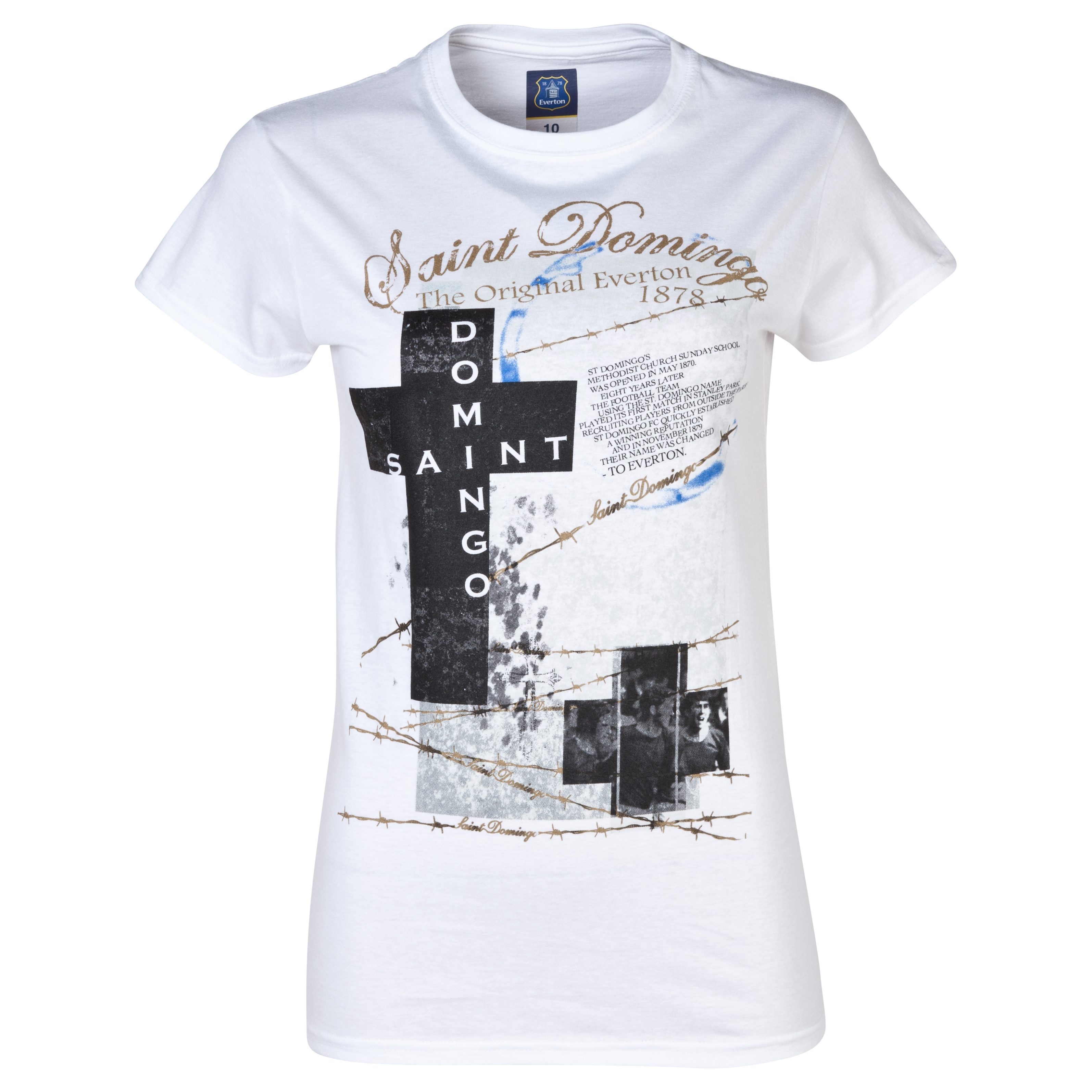 Everton 2for20 Saint Domingo T-Shirt - Womens White