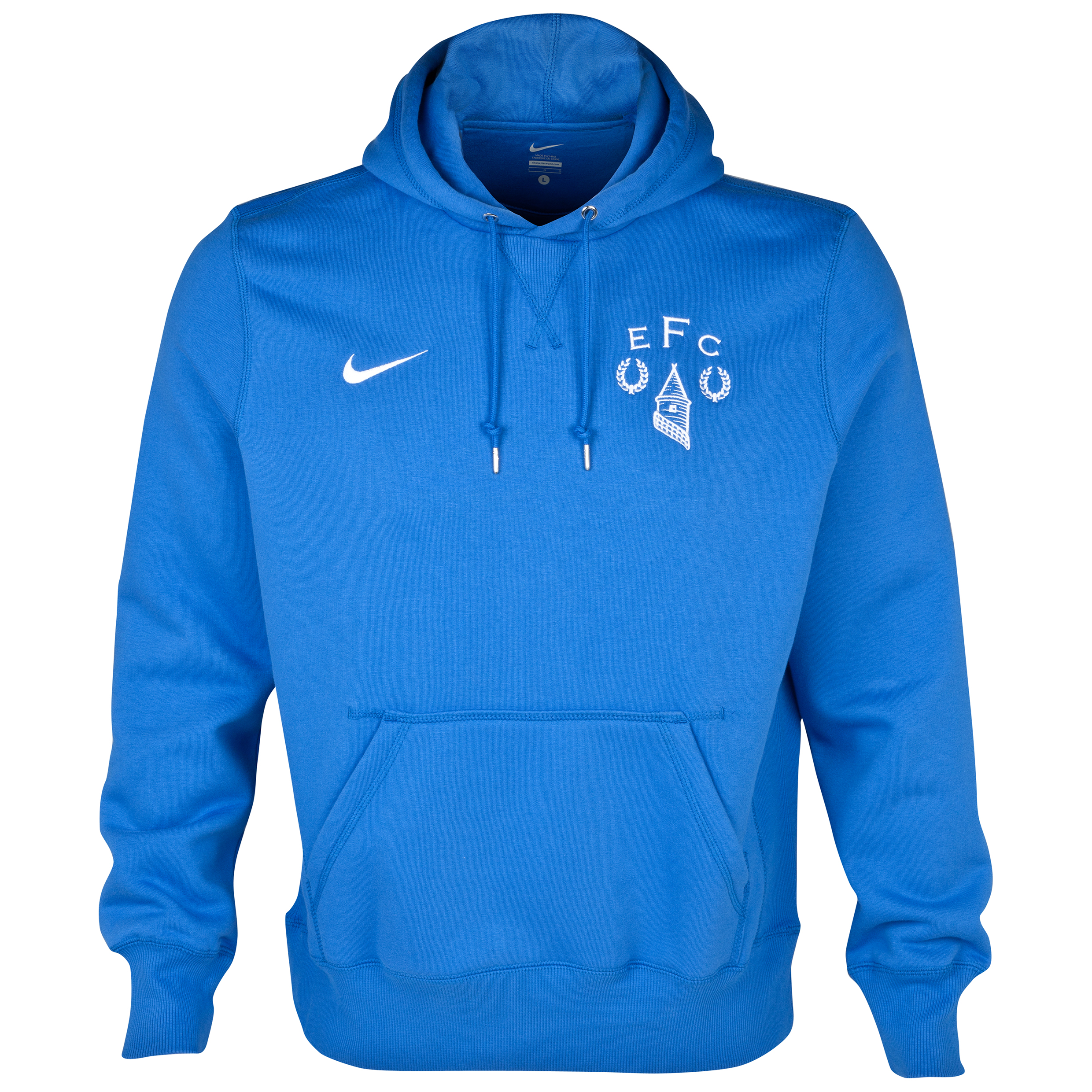 Everton Heritage Fleece Hoodie Royal Blue