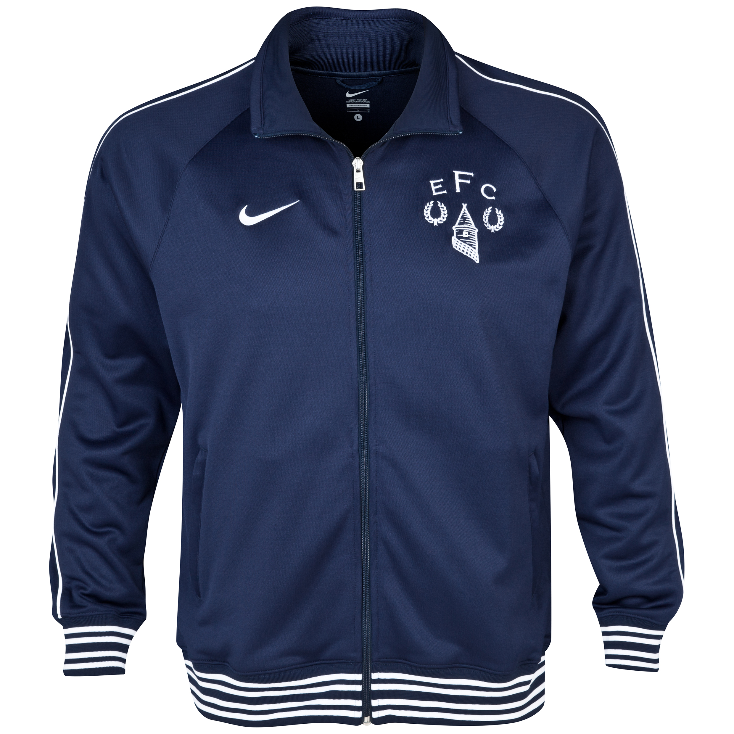 Everton Heritage Trainer Jacket Navy