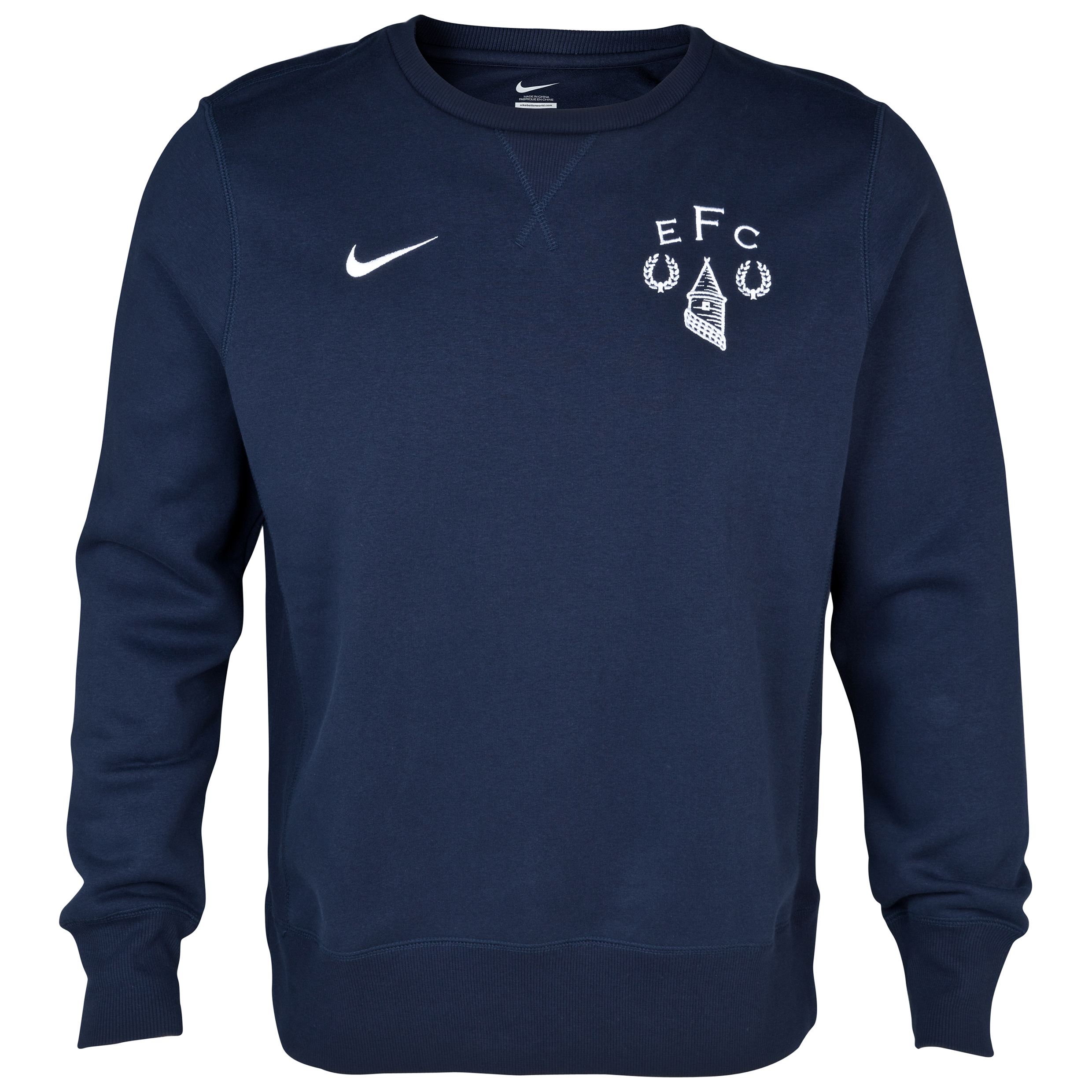 Everton Heritage Fleece Crew Navy