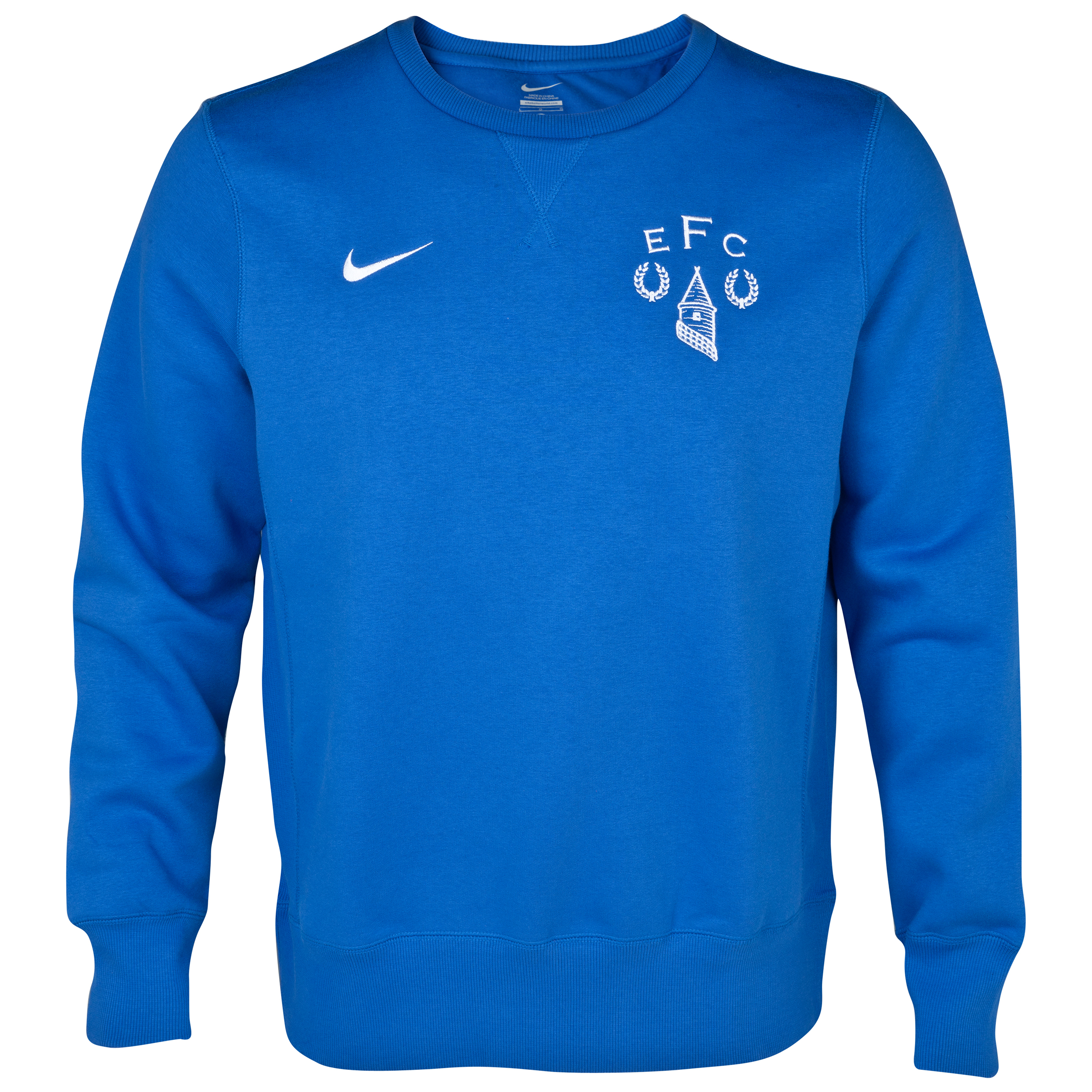 Everton Heritage Fleece Crew Royal Blue