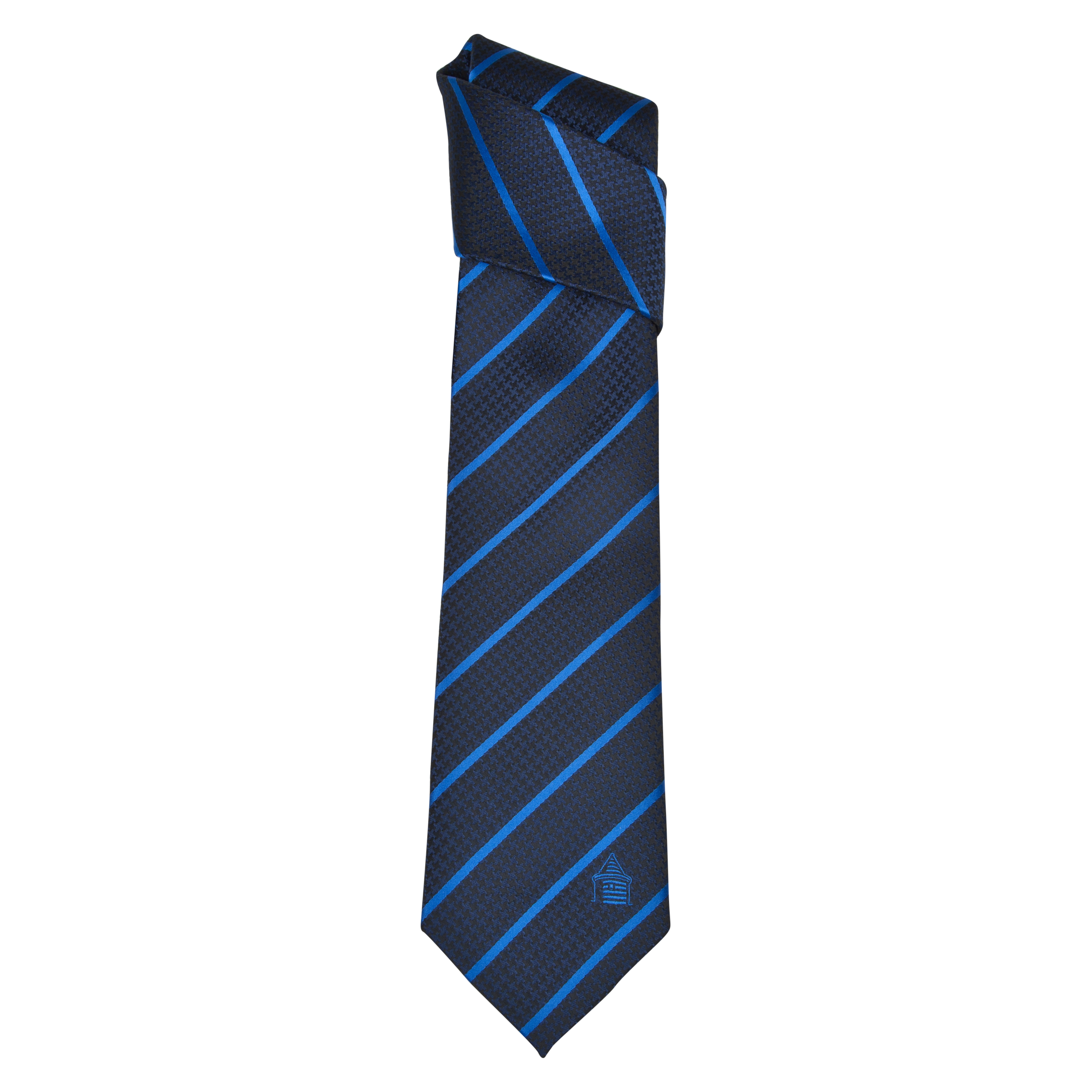 Everton Polyester Dog Tooth Tie - Black/Blue