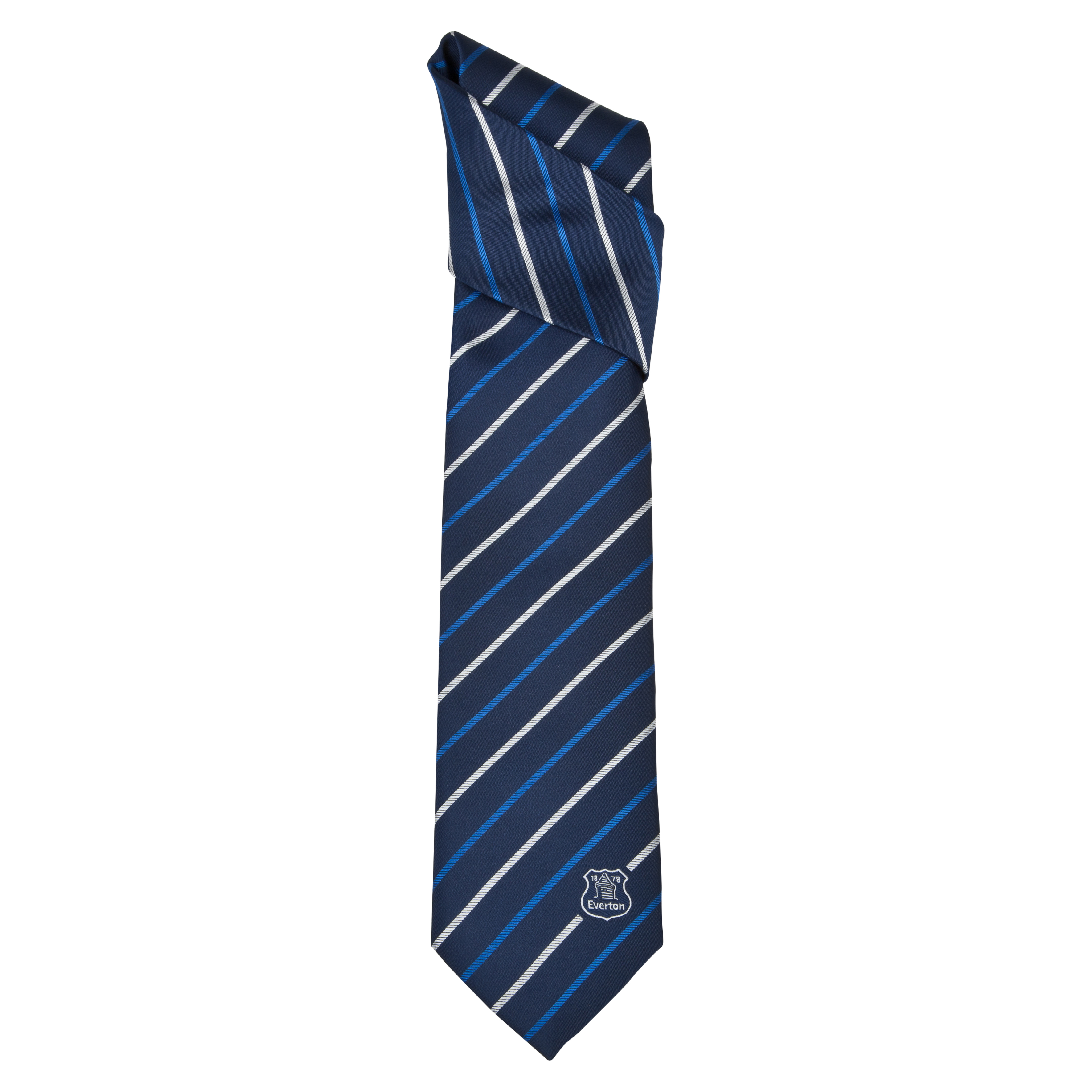 Everton Polyester Stripe Tie - Blue/White