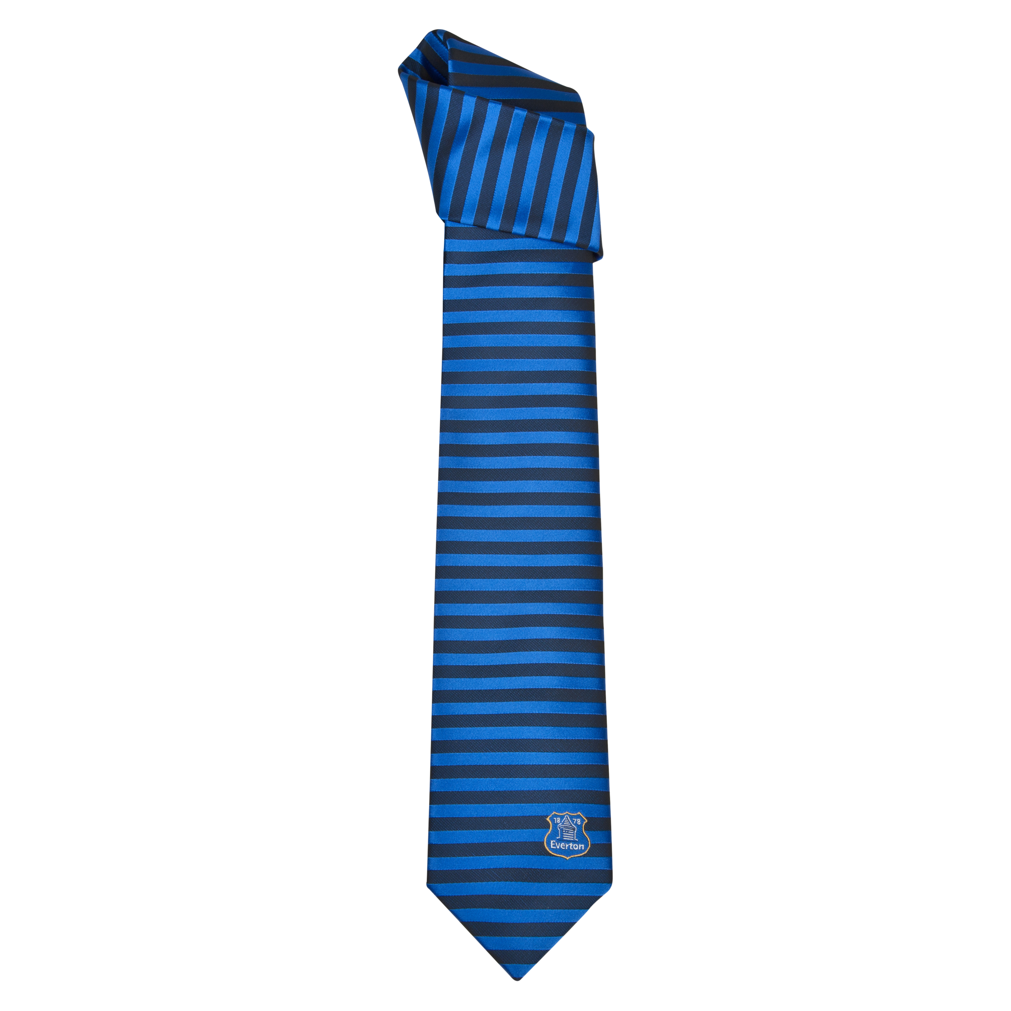 Everton Polyester bar Stripe Tie - Black/ Blue