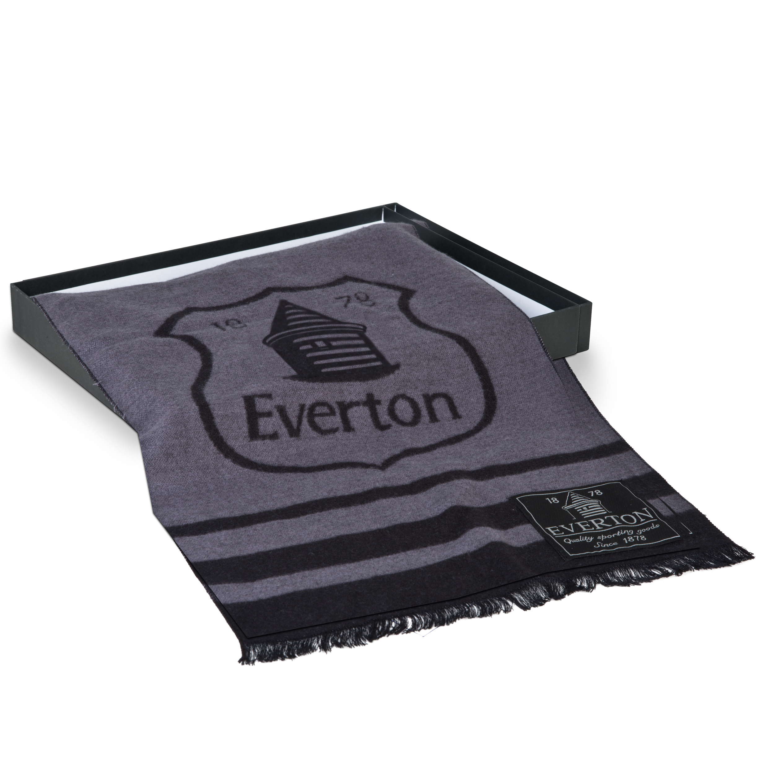 Everton Luxury Boxed Scarf Grey