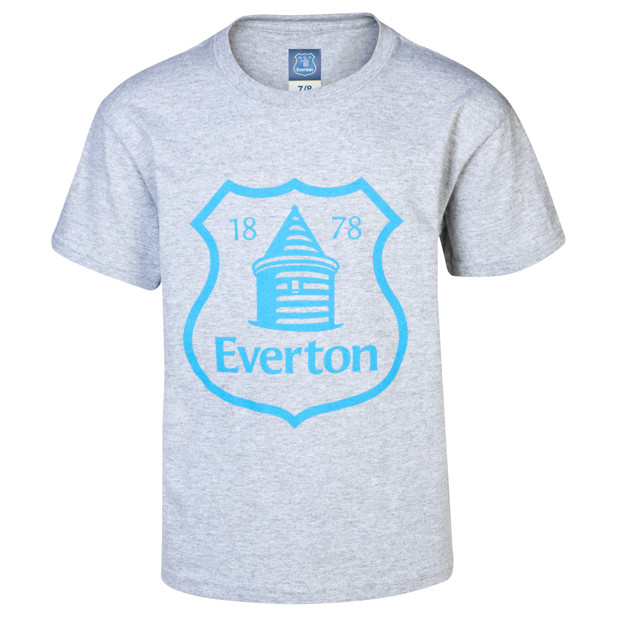 Everton 2 For T Crest T-Shirt- Junior Grey