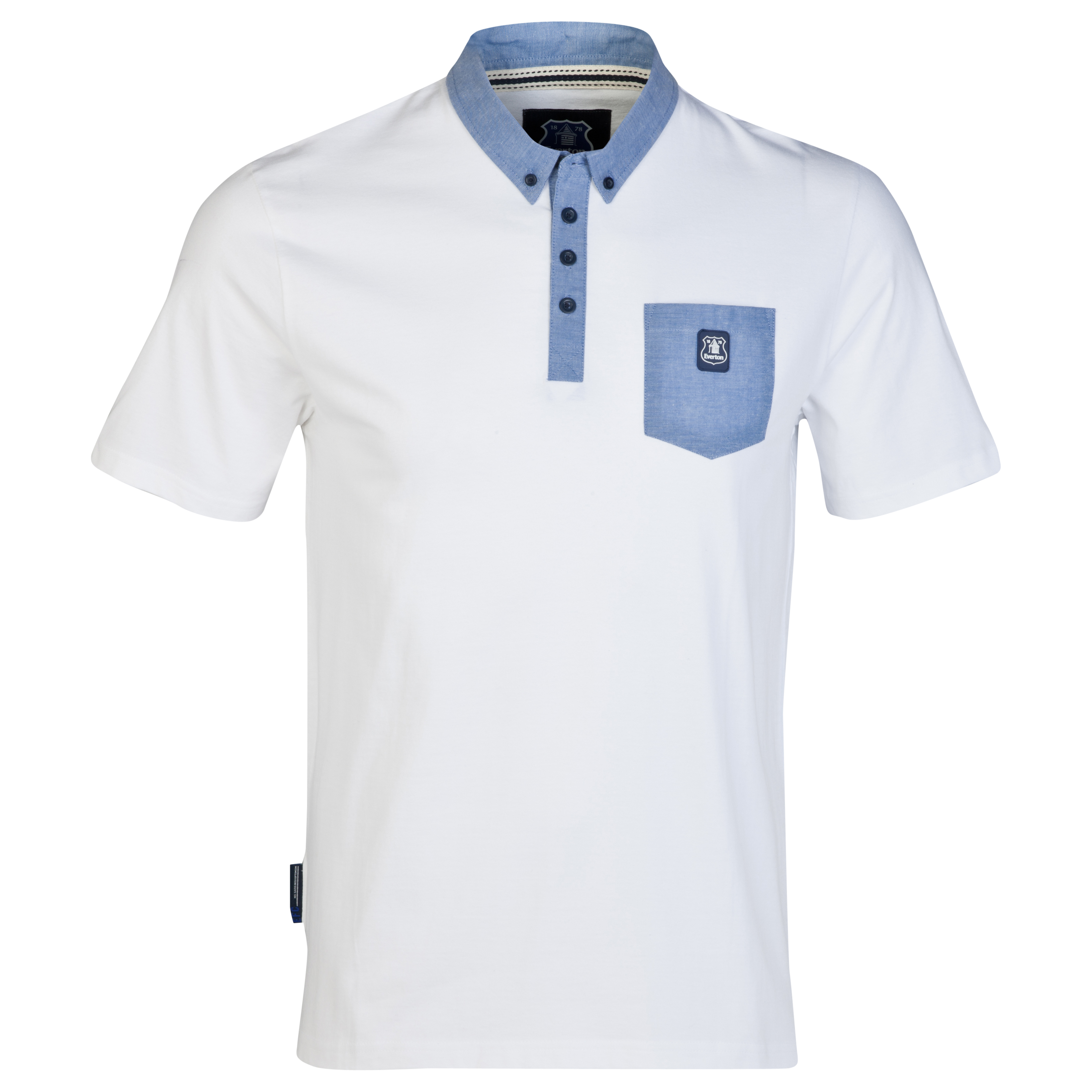 Everton Micro Polo Shirt-Mens White