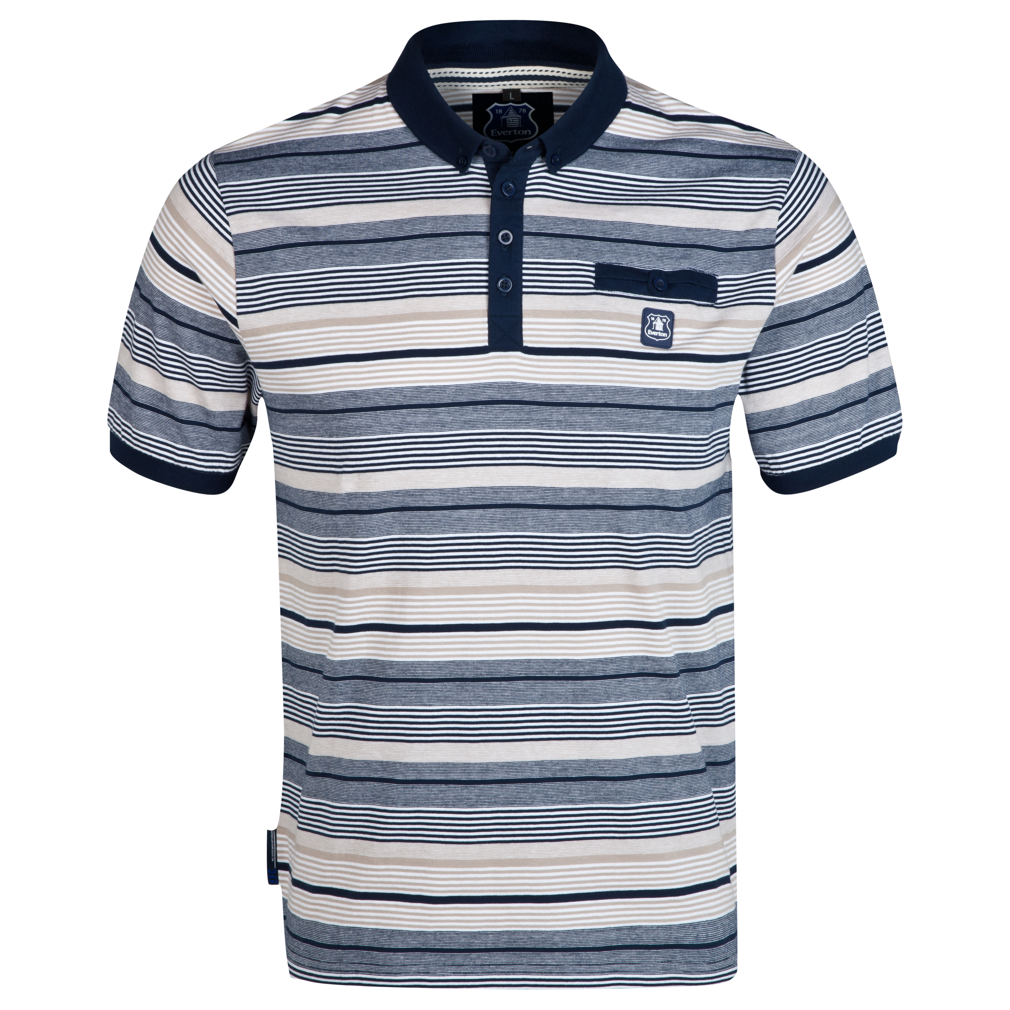 Everton Link Polo Shirt-Mens Multi