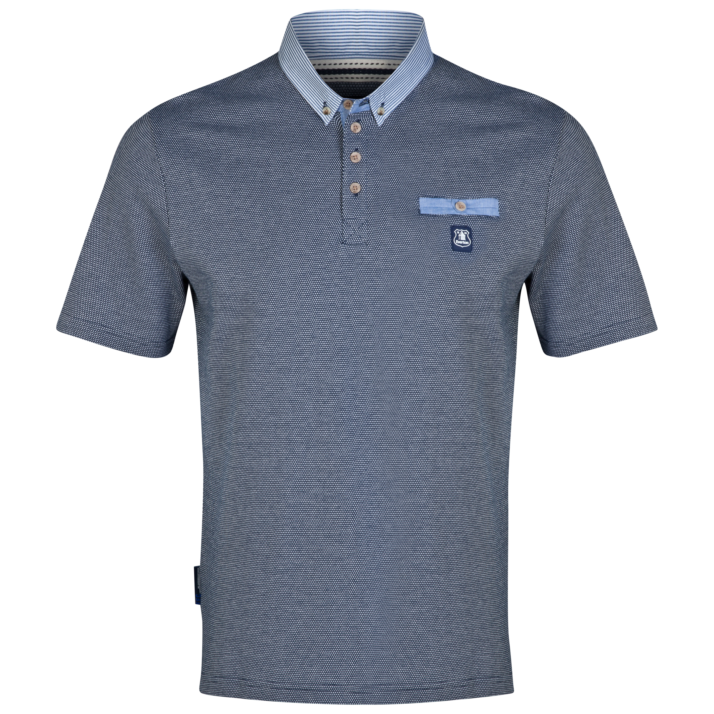 Everton Tone Polo Shirt-Mens Navy