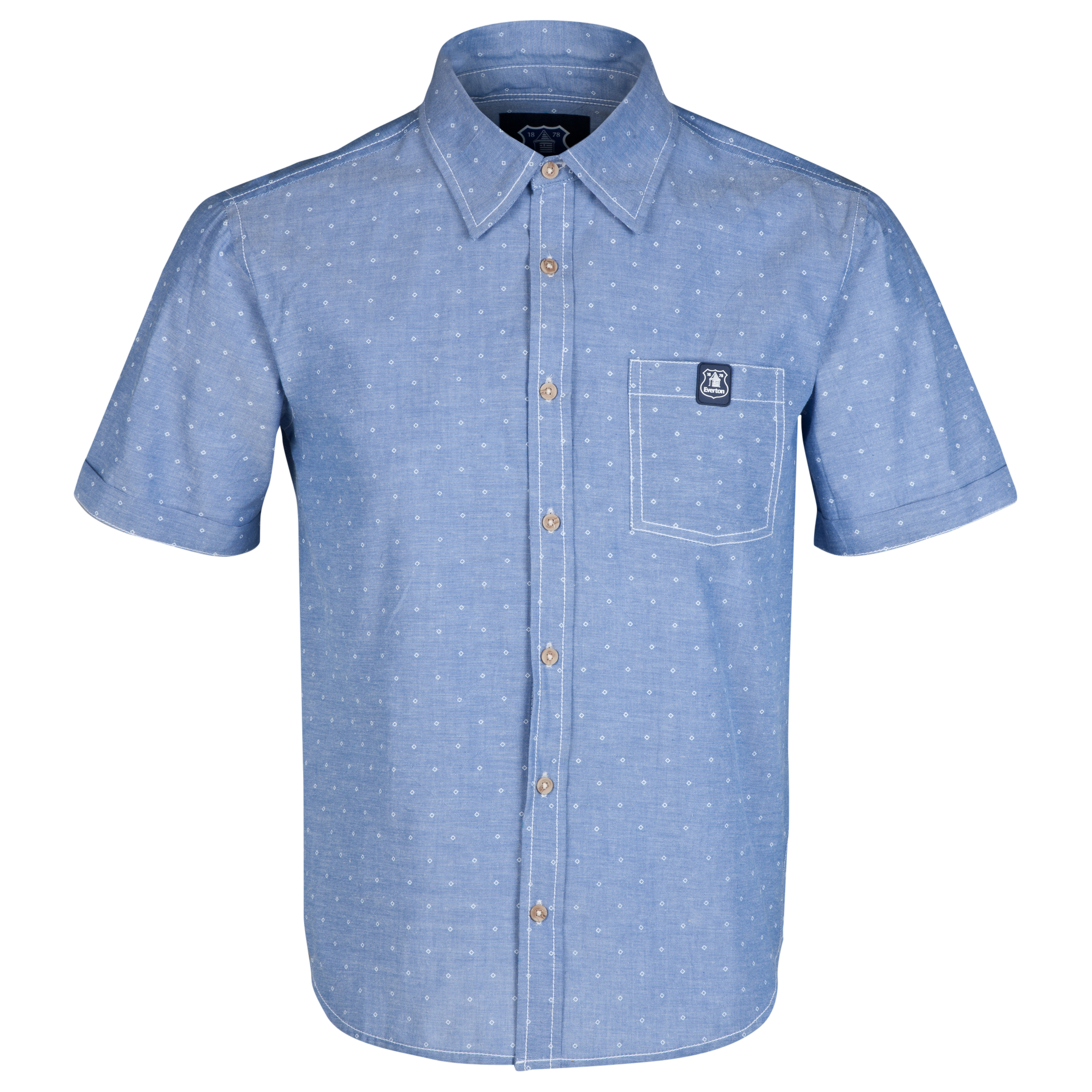 Everton Macro Shirt-Mens Lt Blue