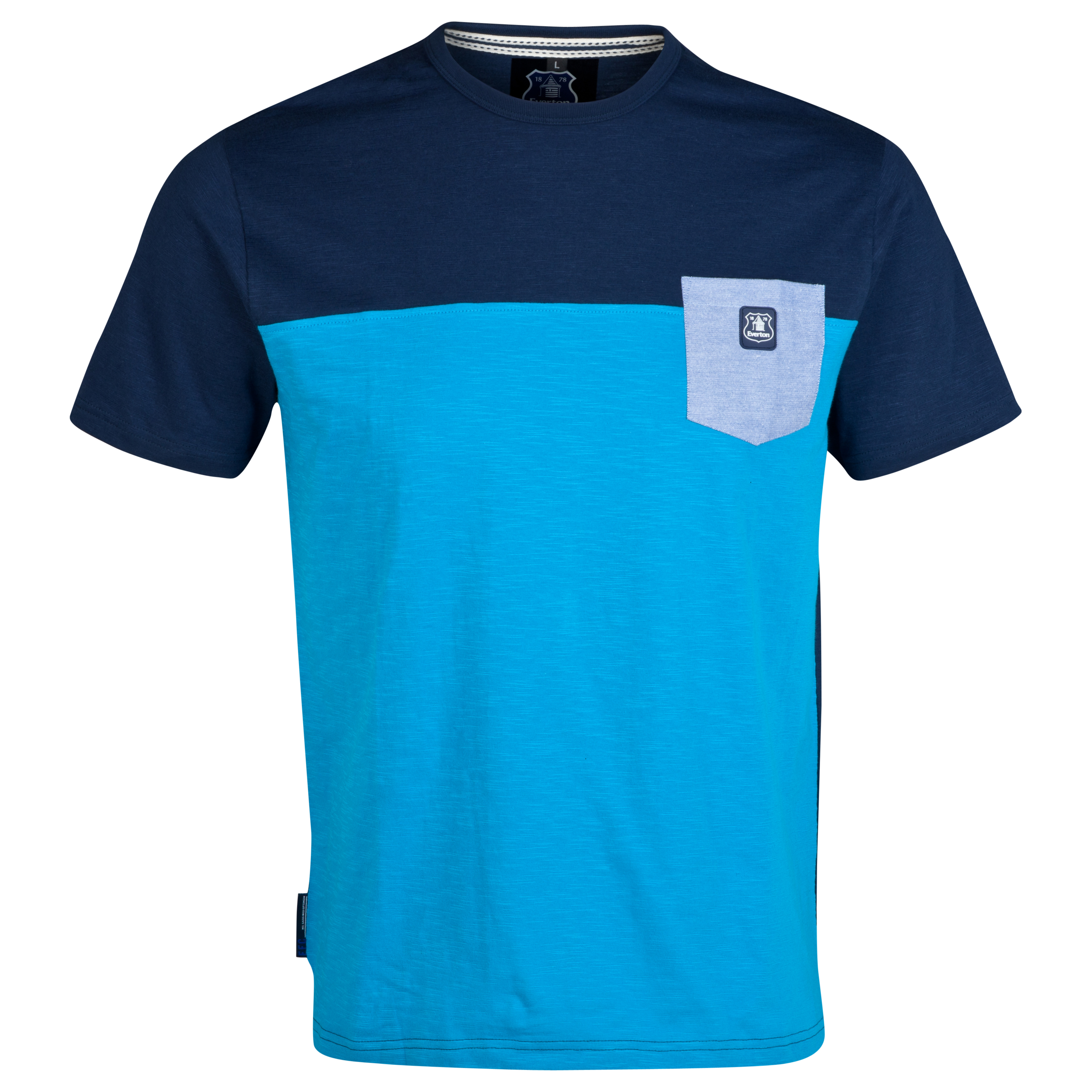 Everton Horizon T-Shirt-Mens Lt Blue