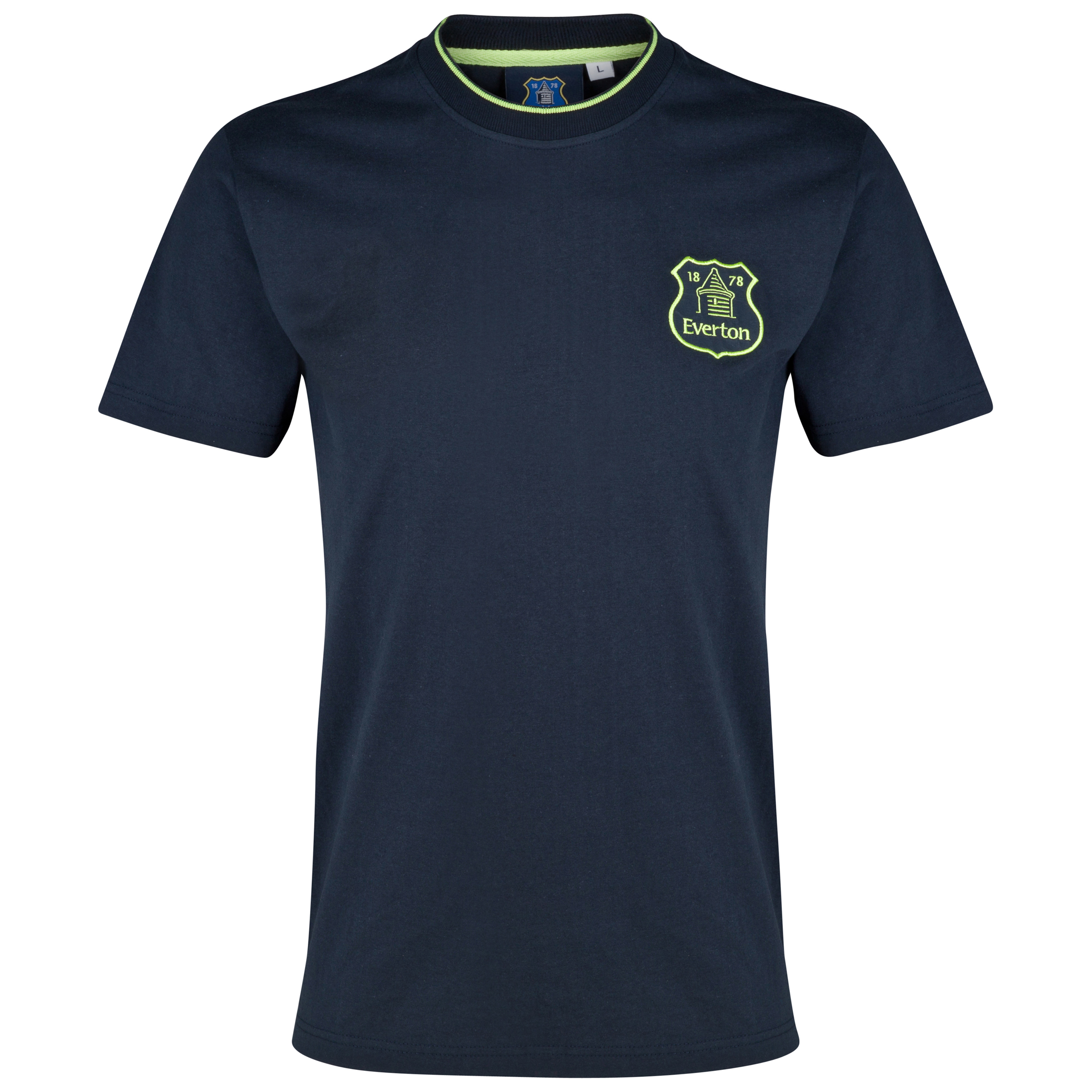 Everton Essentials Reign T-Shirt-Mens Navy