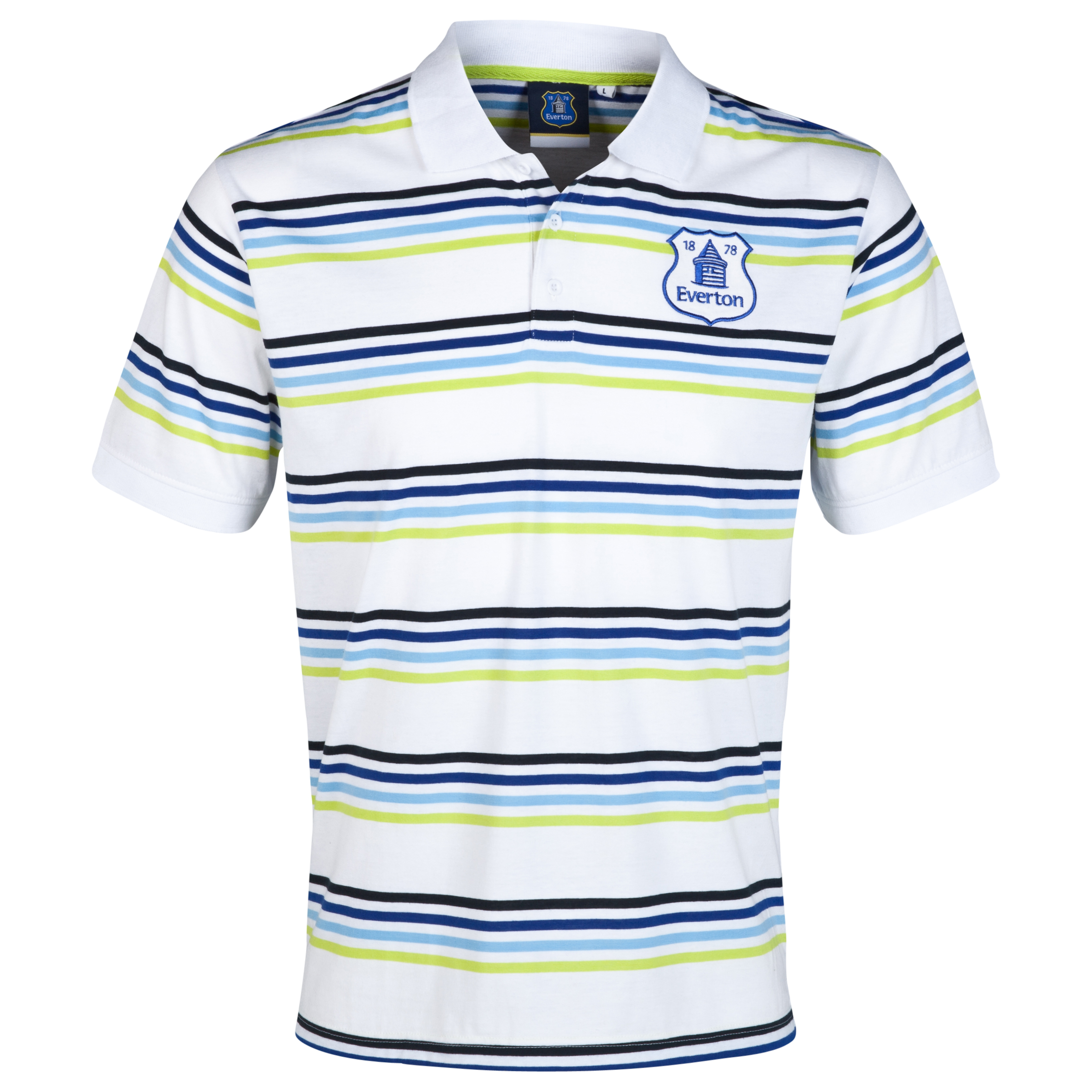 Everton Essentials Flare Polo Shirt-Mens White