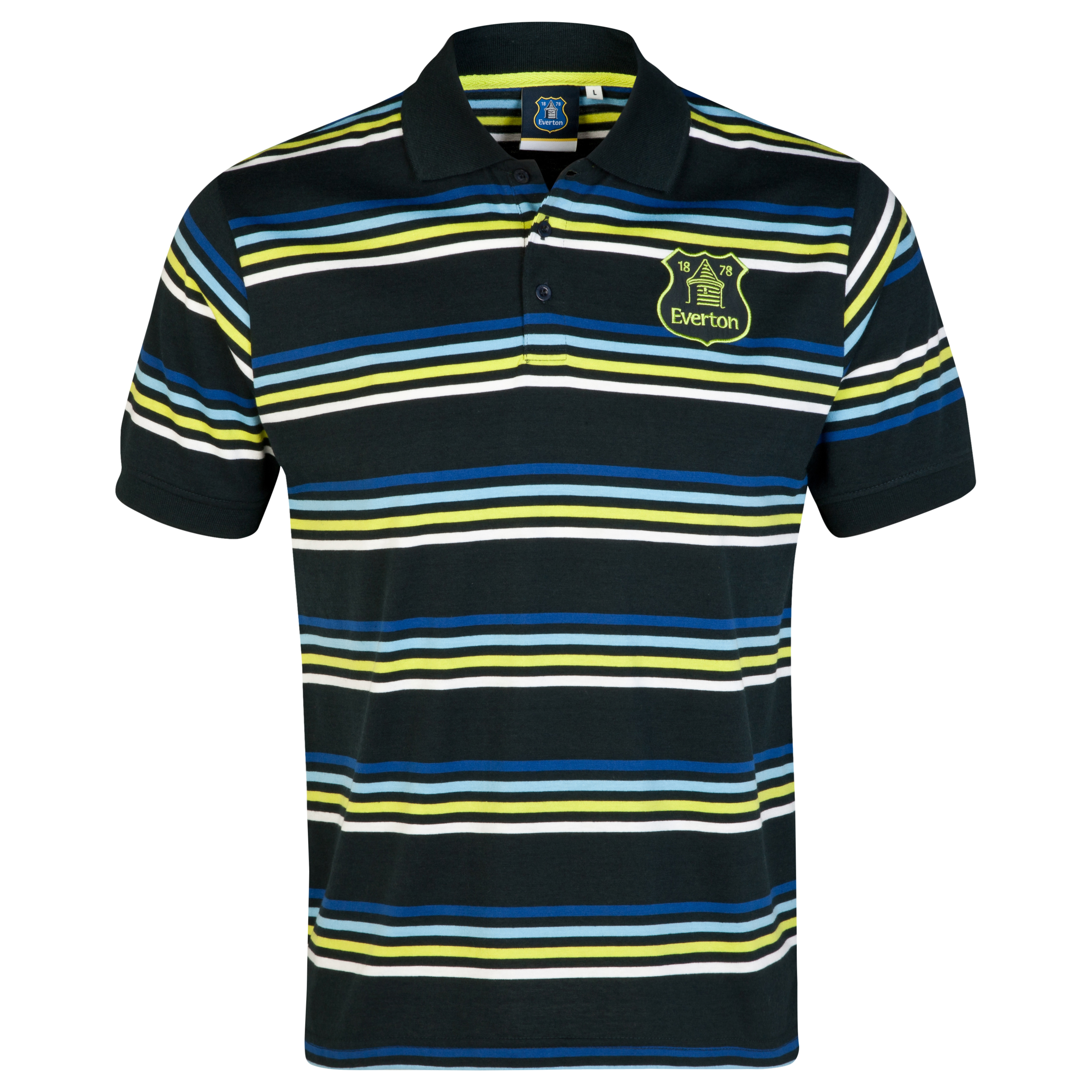 Everton Essentials Flare Polo Shirt-Mens Navy
