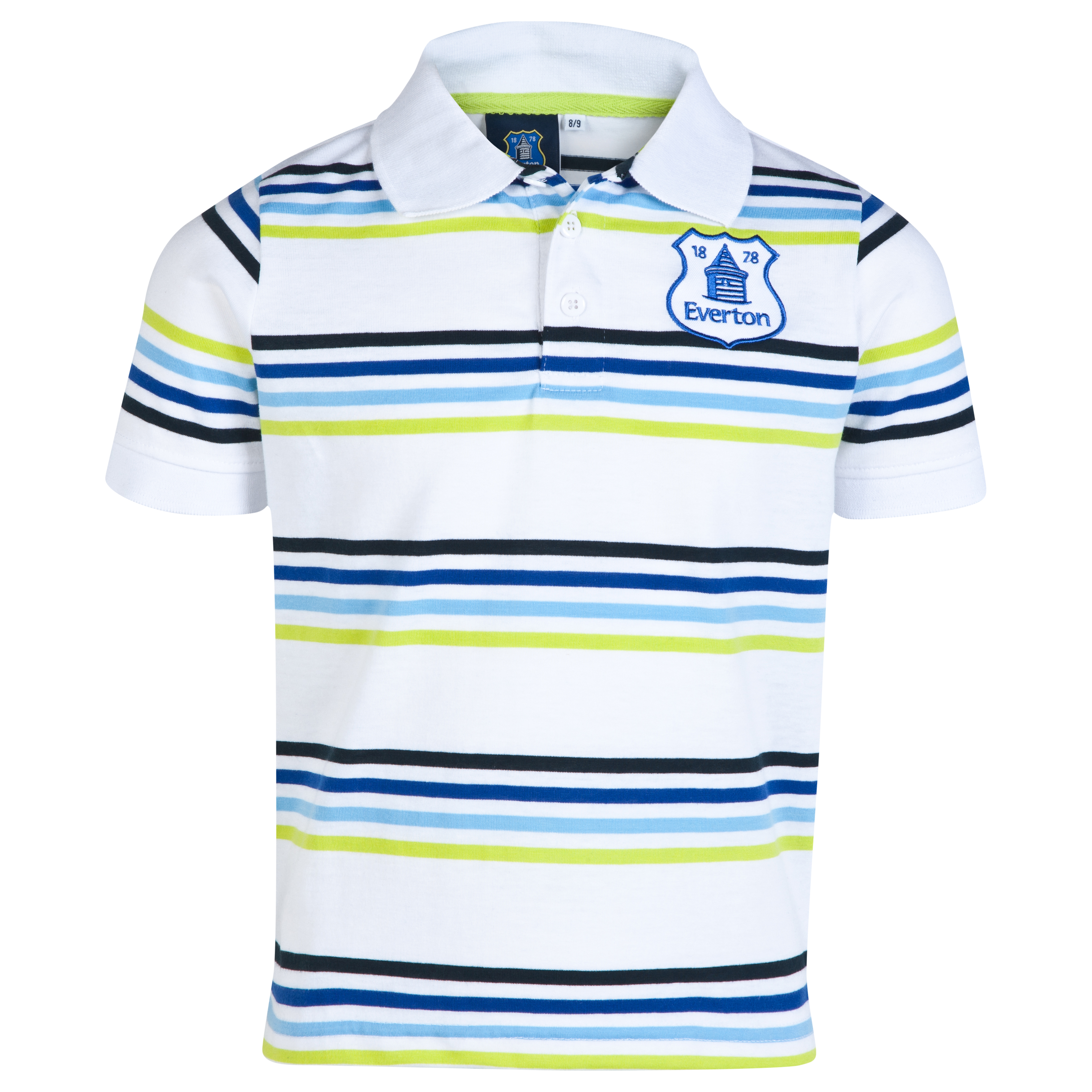 Everton Essentials Flare Polo Shirt-Older Boys White