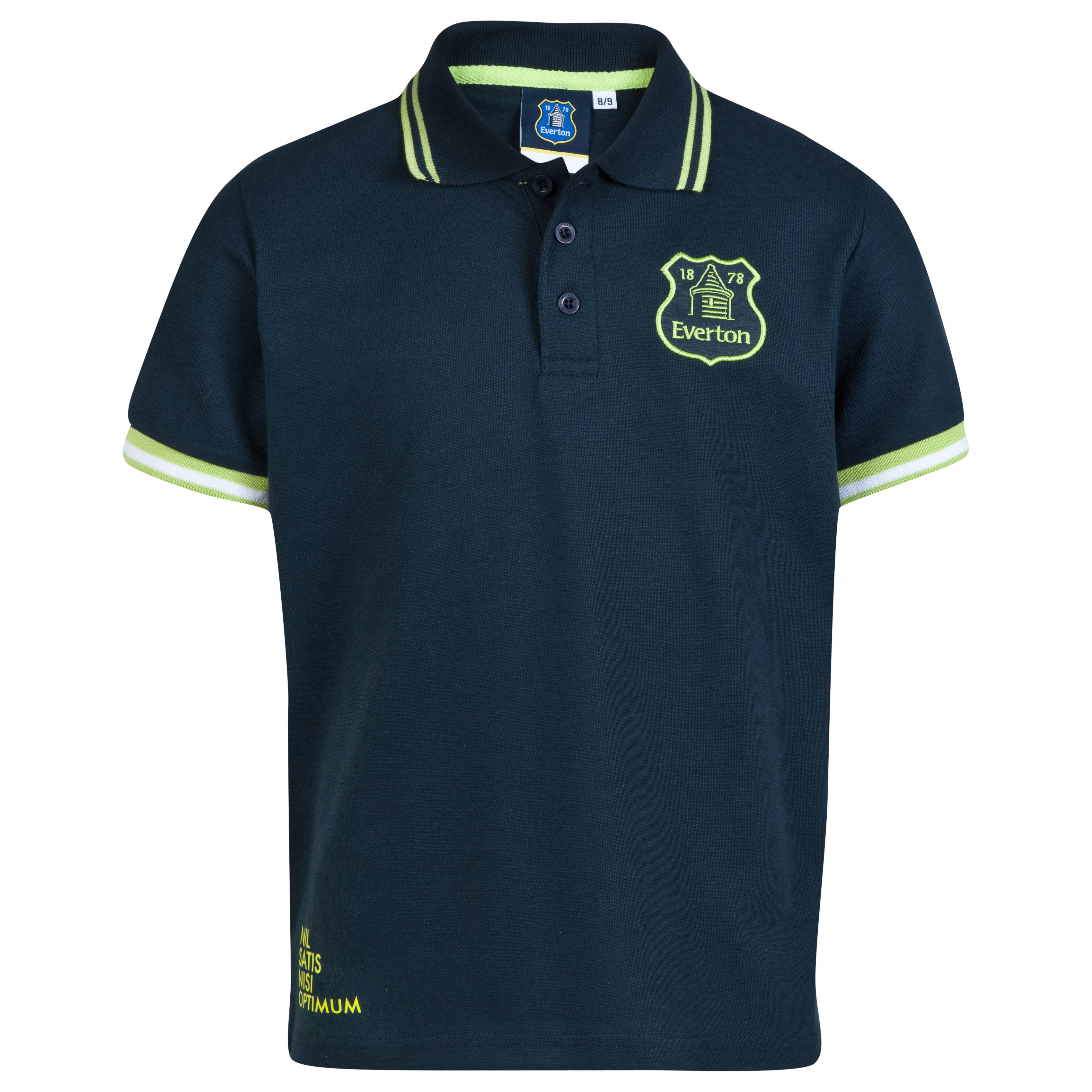 Everton Essentials Neon Polo Shirt-Infant Boys Navy