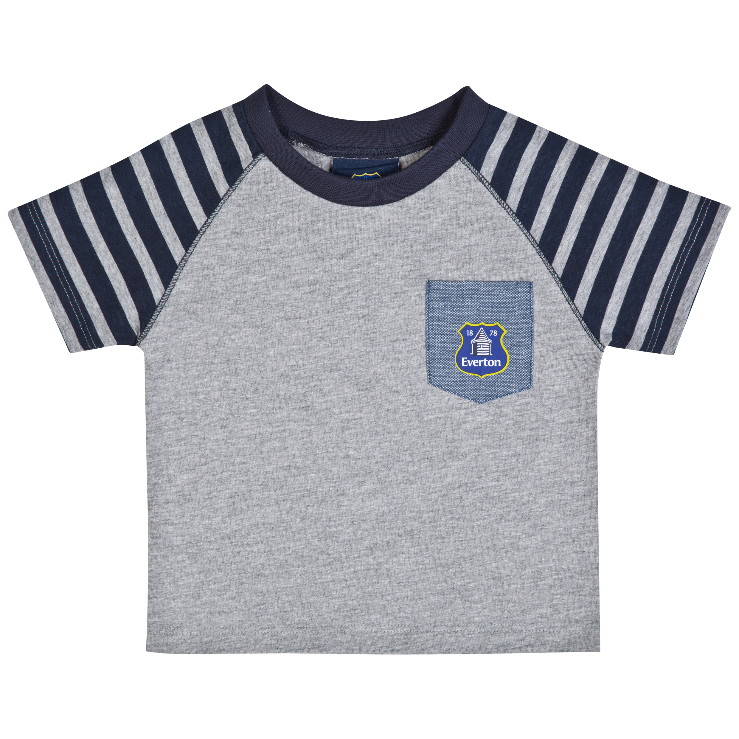Everton One T-Shirt-Baby Lt Grey