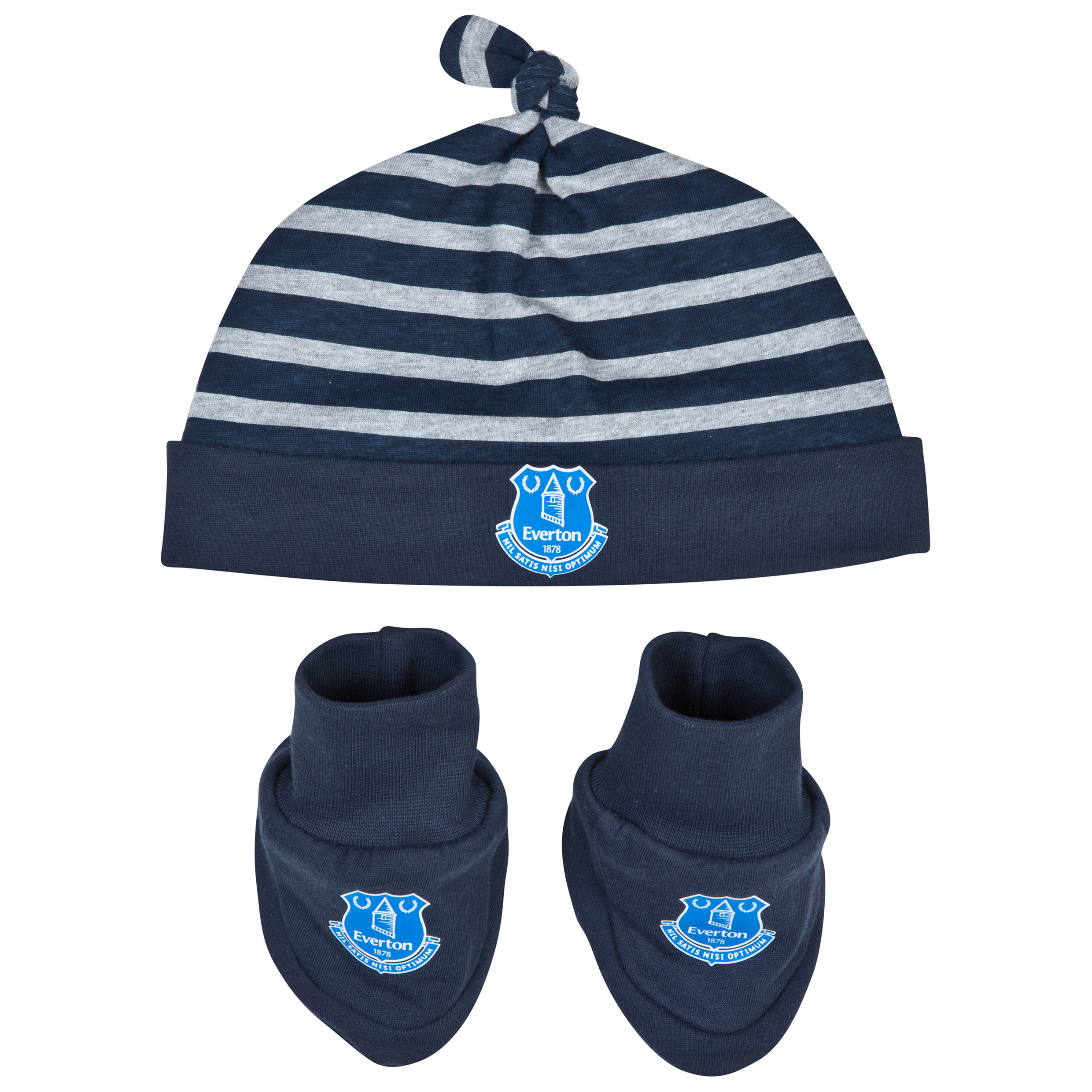 Everton Hat and Bootie-Baby Navy
