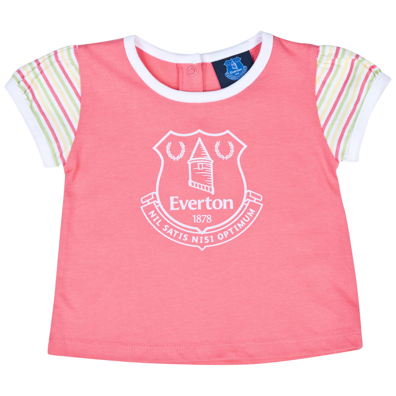 Everton Crest T-Shirt-Baby Pink