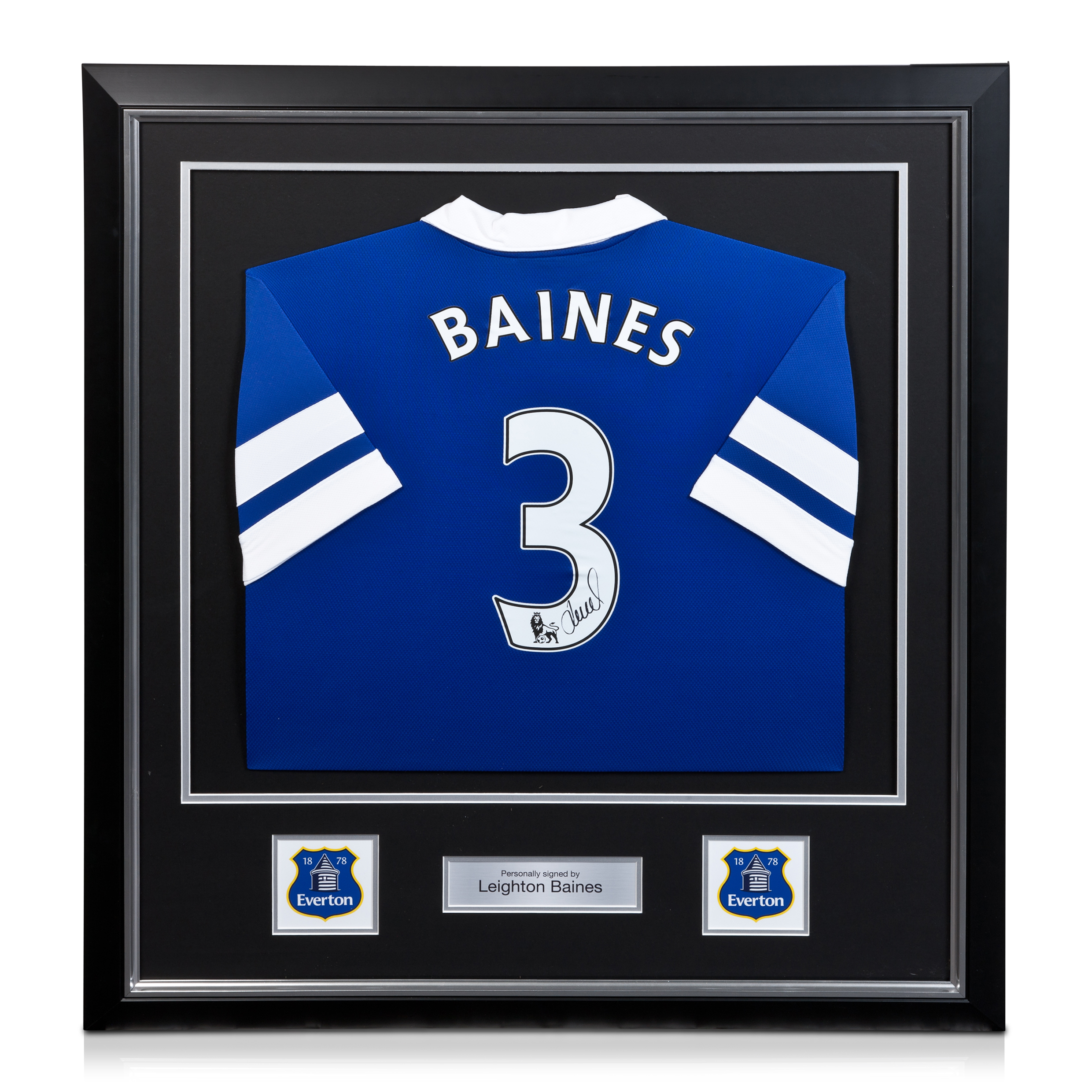 Everton Leighton Baines Signed / Framed Shirt