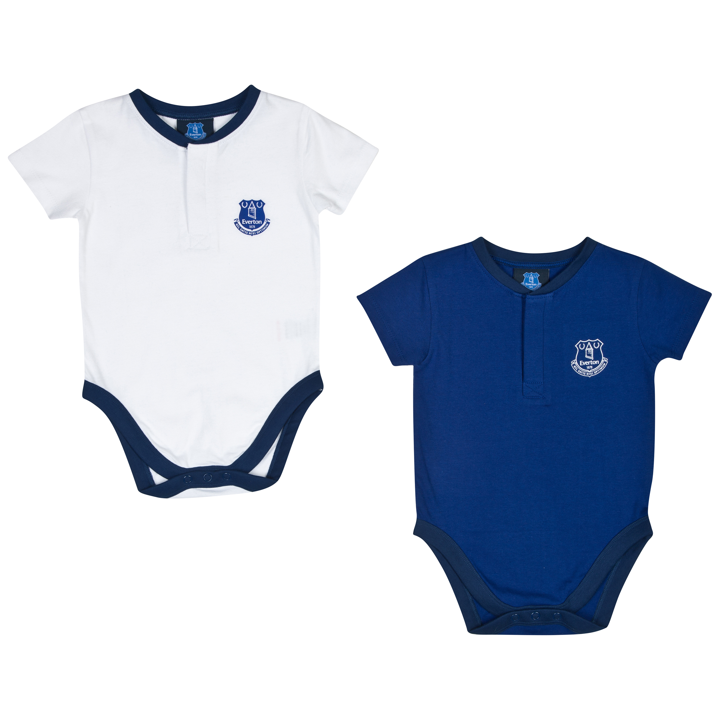 Everton 14/15 2Pk Kit Bodysuits - Everton Blue/White - Baby
