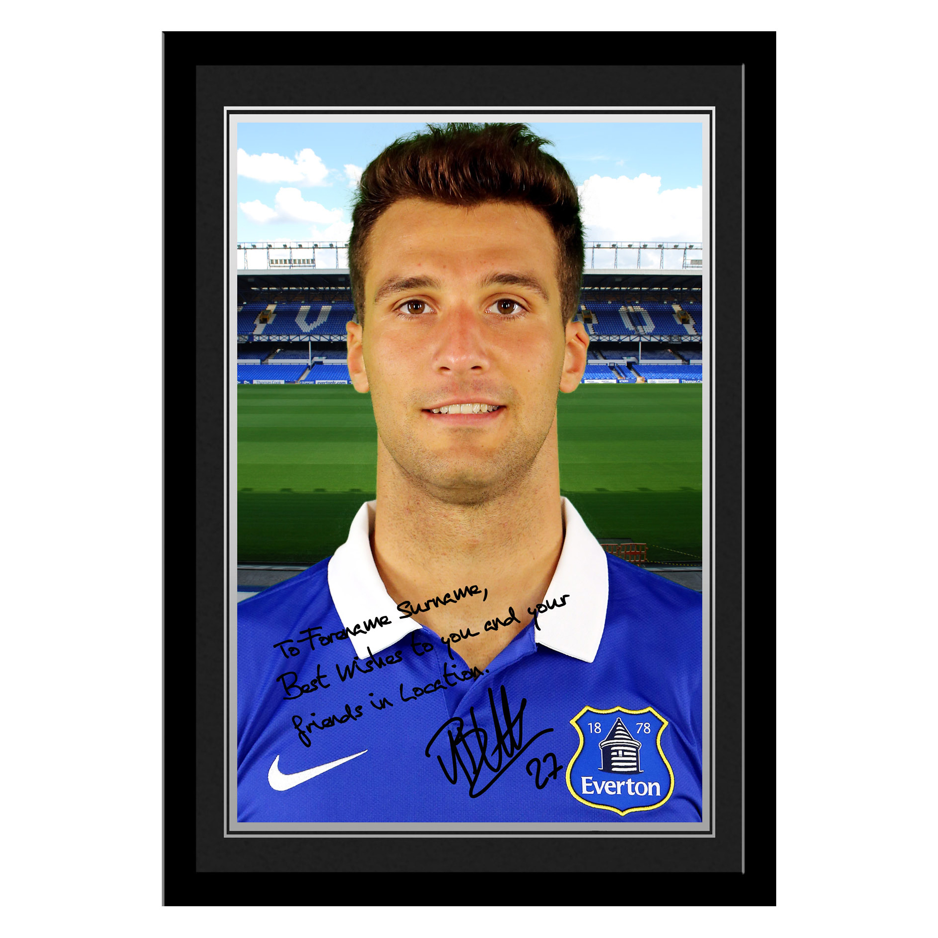 Everton Personalised Signature Photo Framed - Vellios