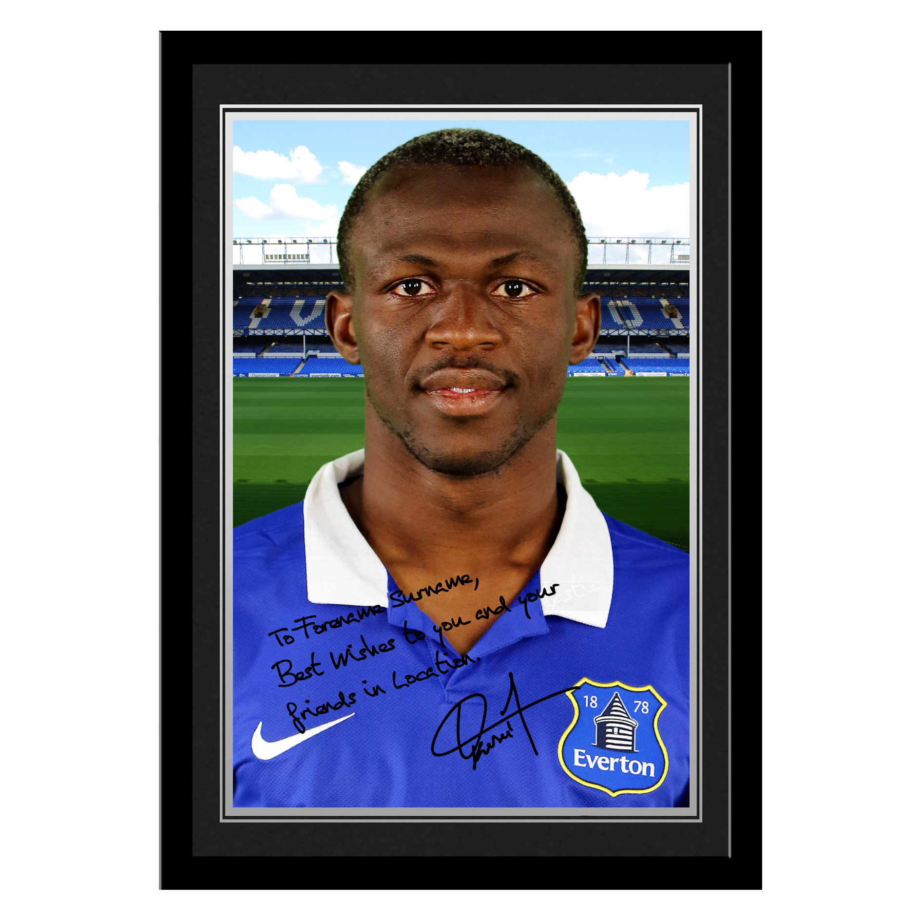 Everton Personalised Signature Photo Framed - Kone