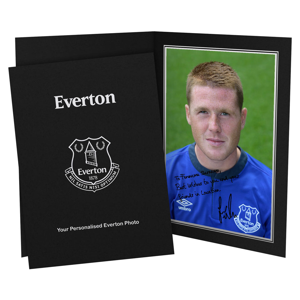 Everton Personalised Signature Photo in Presentation Folder - McCarthy
