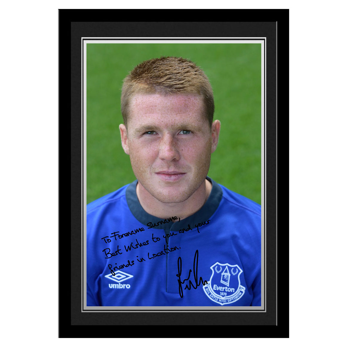 Everton Personalised Signature Photo Framed - McCarthy