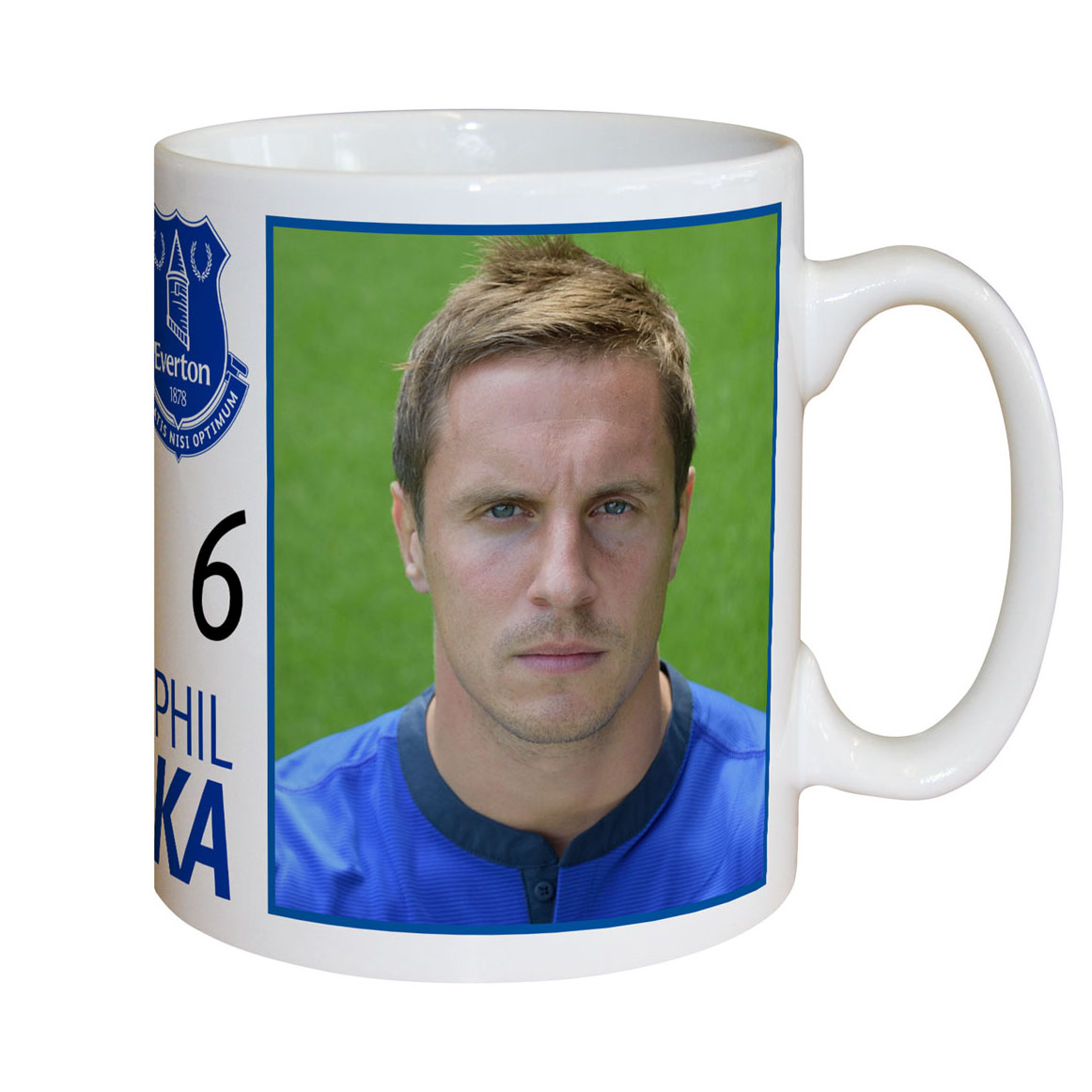 Everton Personalised Signature Mug - Jagielka